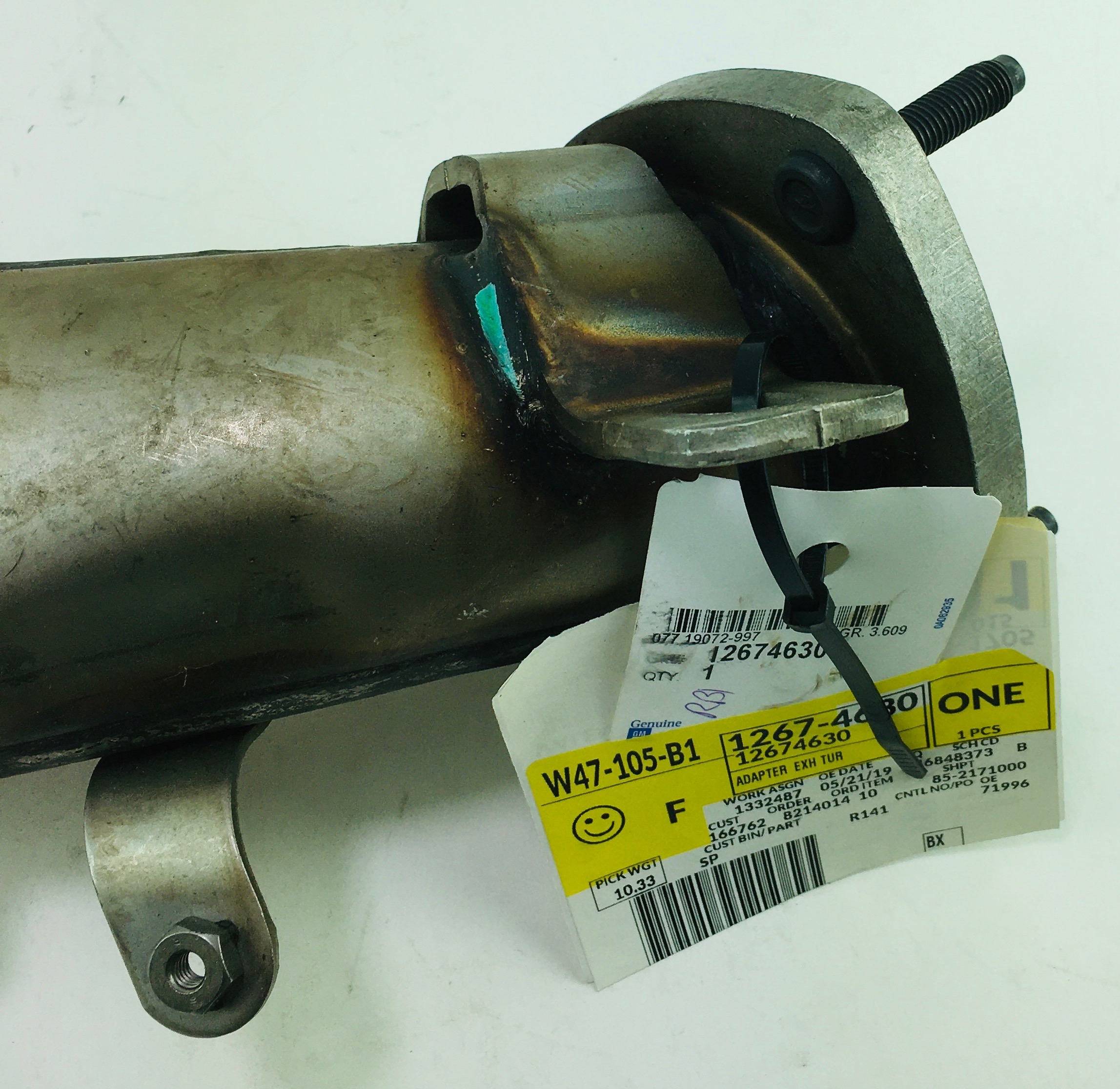 New OEM 12674630 15-16 GMC Chevy 6.6L Duramax Exhaust Turbo Outlet Pipe Adapter - image 4