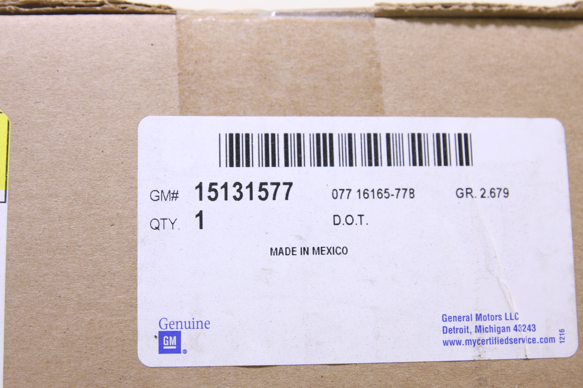 *New OEM GM 15131577 GMC Envoy 02-09 Right Rear Brake Taillight Taillamp Lens - image 6