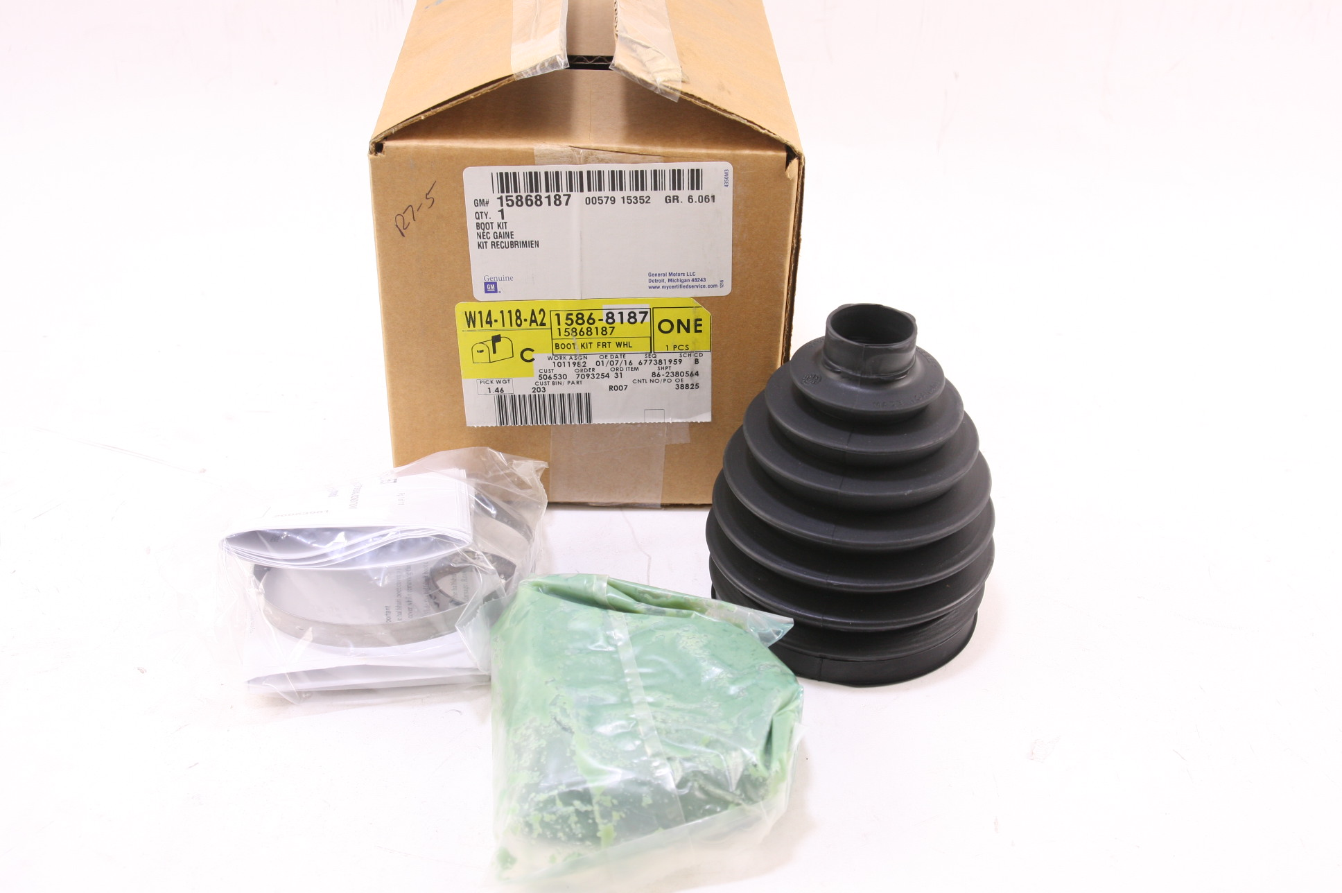 * New OEM 15868187 GM CV Constant Velocity Front Outer Boot Free Shipping NIP - image 1