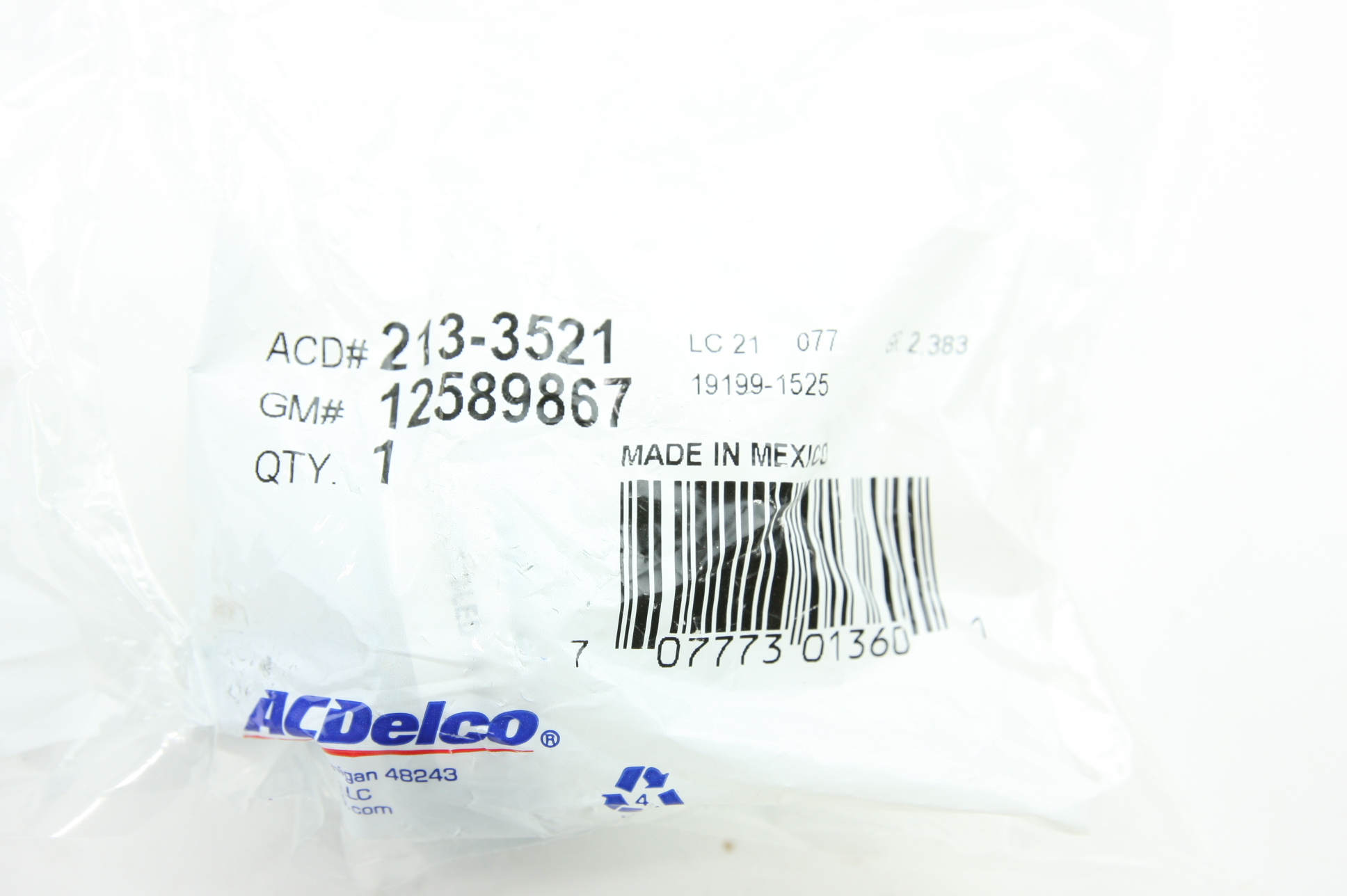 New Pair ACDelco 213-3521 OEM Chevy Express Knock Sensor GM 12589867 NIP - image 5
