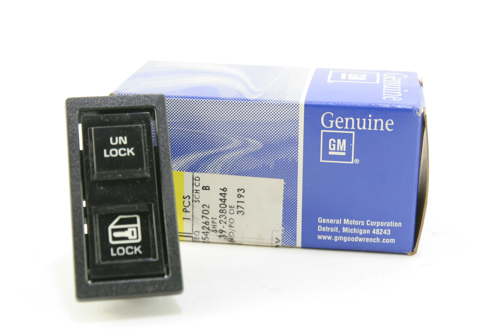 ** New Genuine OEM GM 22071944 Truck Square Lock Unlock Switch w/ 5 Prongs  NIP