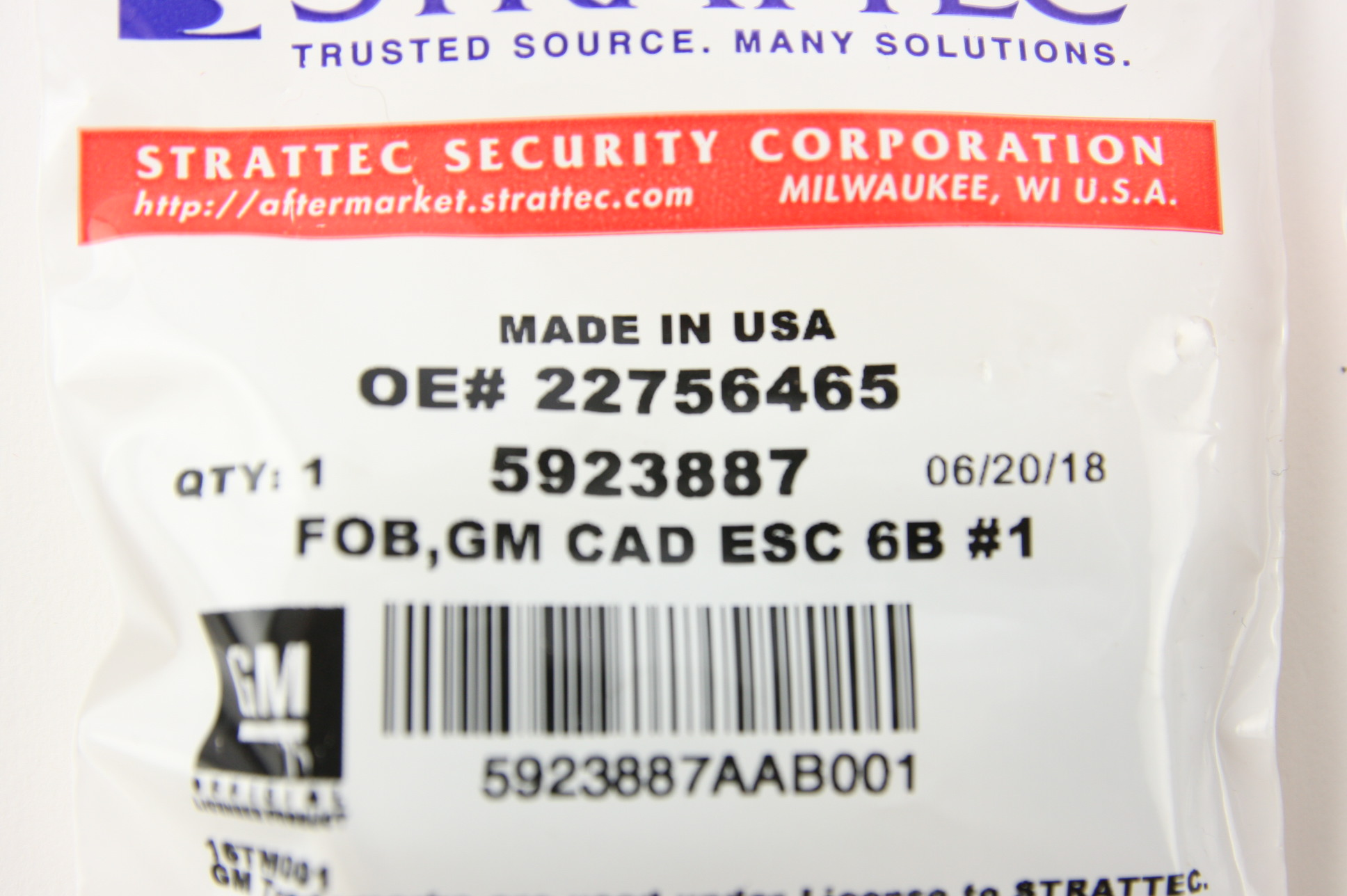 New GM OEM 22756465 Genuine Cadillac Escalade Driver #1 Remote [2] 5923887 NIP - image 8