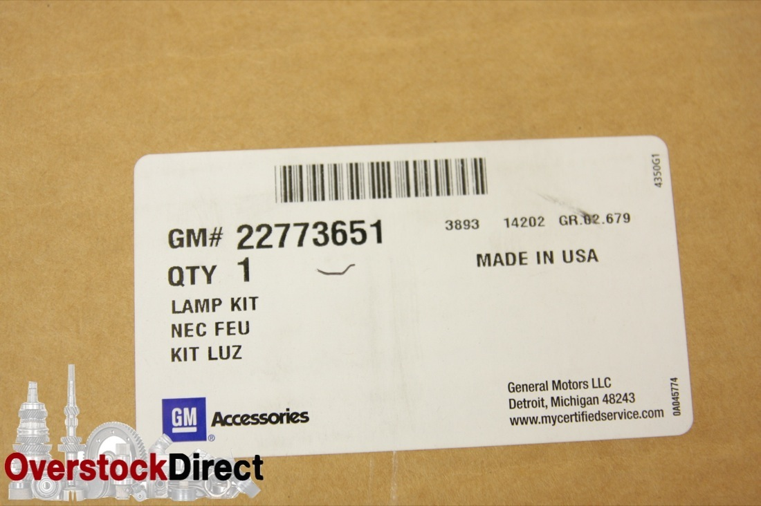 New OEM 22773651 Cadillac Accessories Clear Tail Lamp Set Package 11-16 SRX NIP - image 2