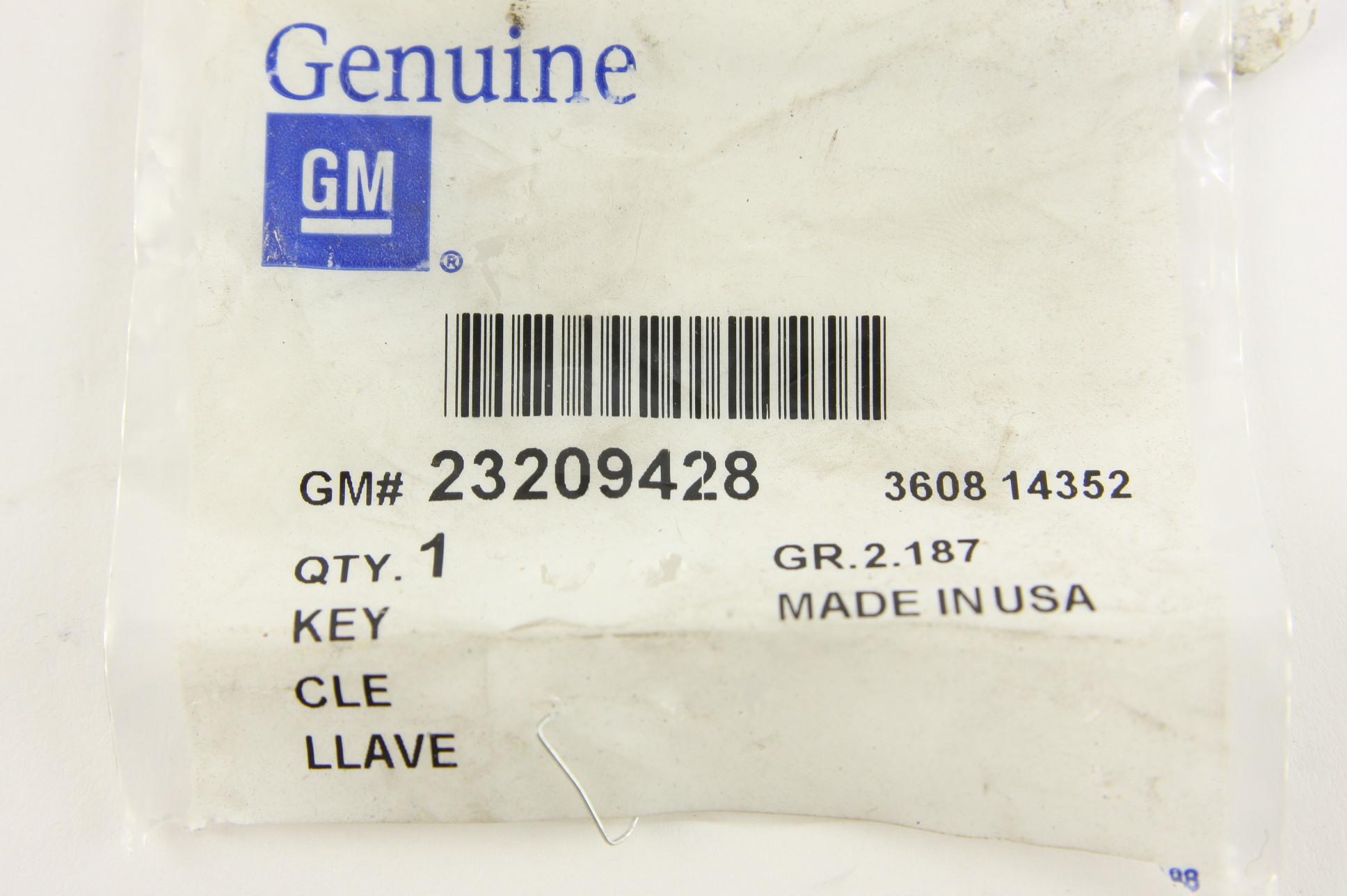 **~ New OEM 23209428 Genuine GM Transponder Key Chip Ignition Uncut Key Blank - image 2
