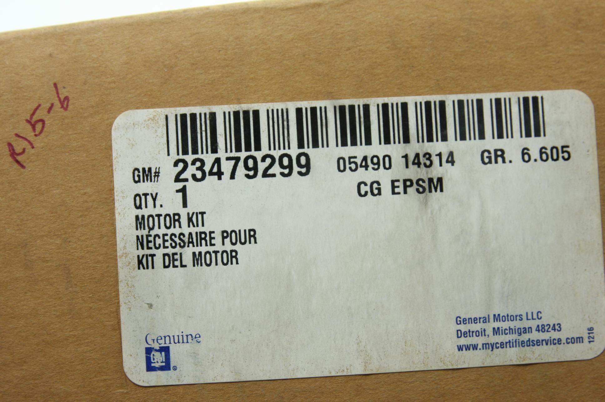New OEM 23479299 Genuine GM Steering Gear Electric Power Steering Motor NIP - image 2