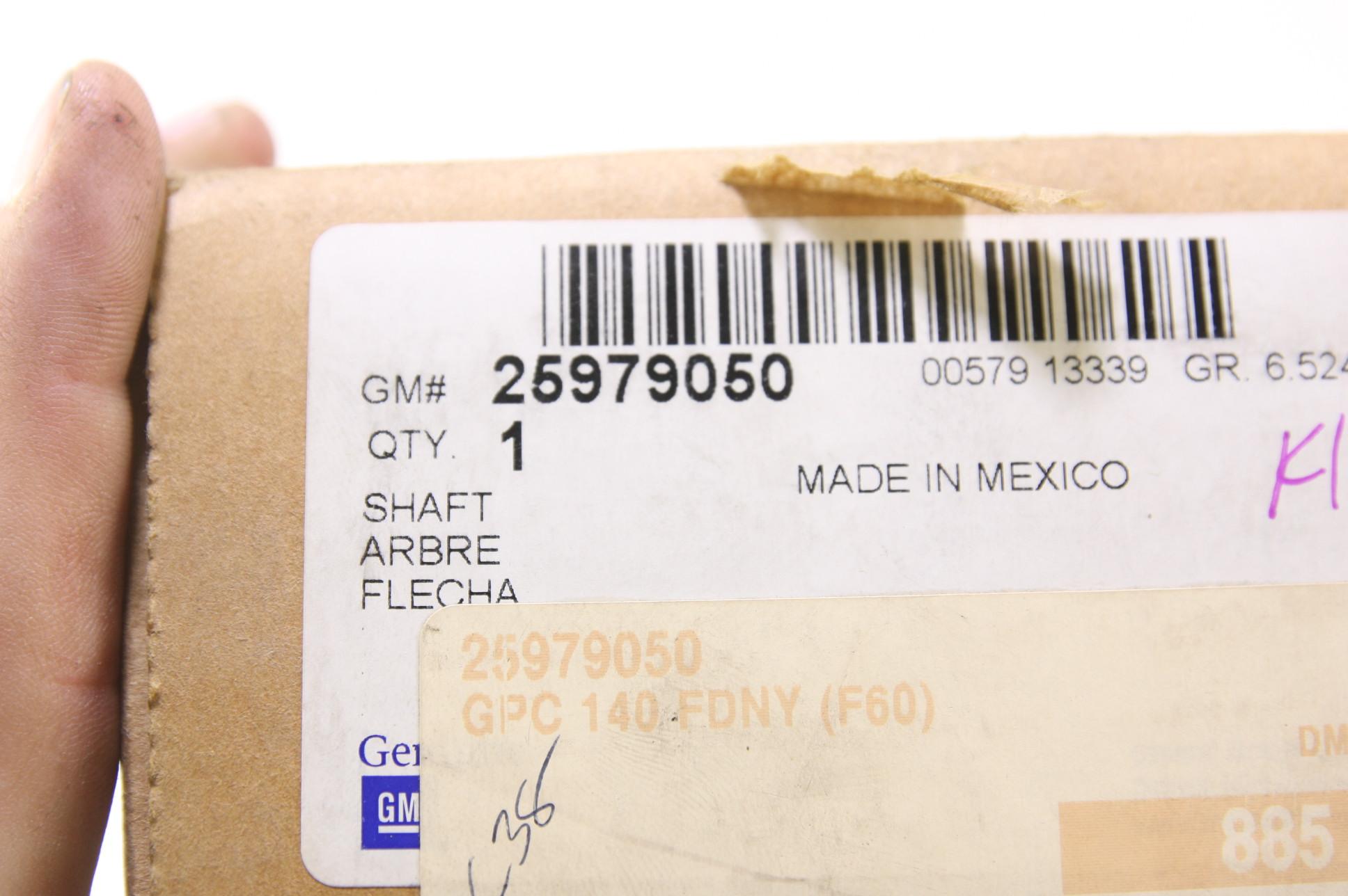 New OEM 25979050 GM Steering Column Lower Shaft Fast Free Shipping NIP - image 3