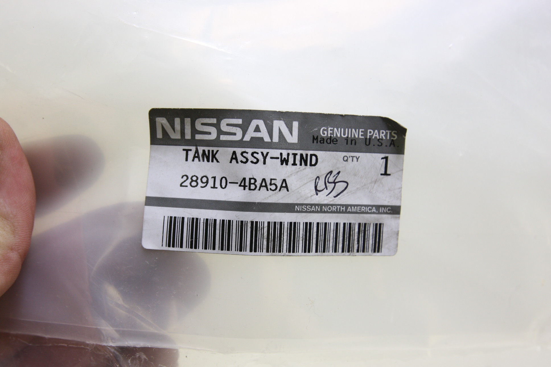 New OEM 28910-4BA5A Nissan 14-16 Rogue Windshield Washer Fluid Reservoir Tank - image 2