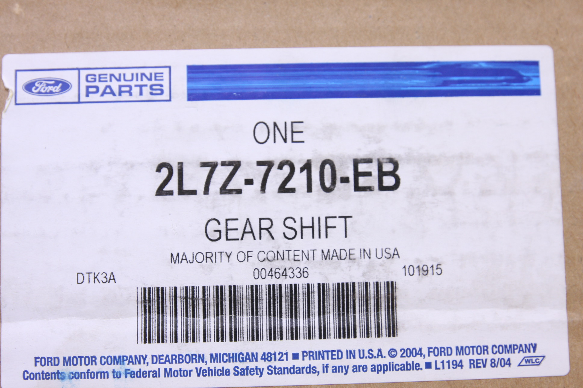 ~ New Genuine Ford OEM 2L7Z7210EB Automatic Transmission Gear Shifter Lever - image 2