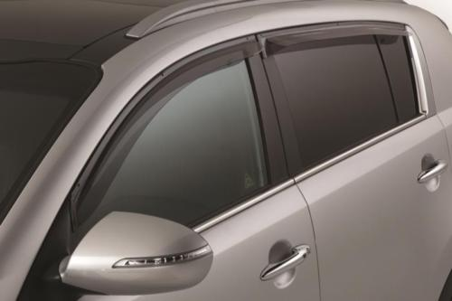 **~ New OEM 3W022ADU00 Kia Sportage Sport Visors Rain Guards set of 4 Vents - image 1