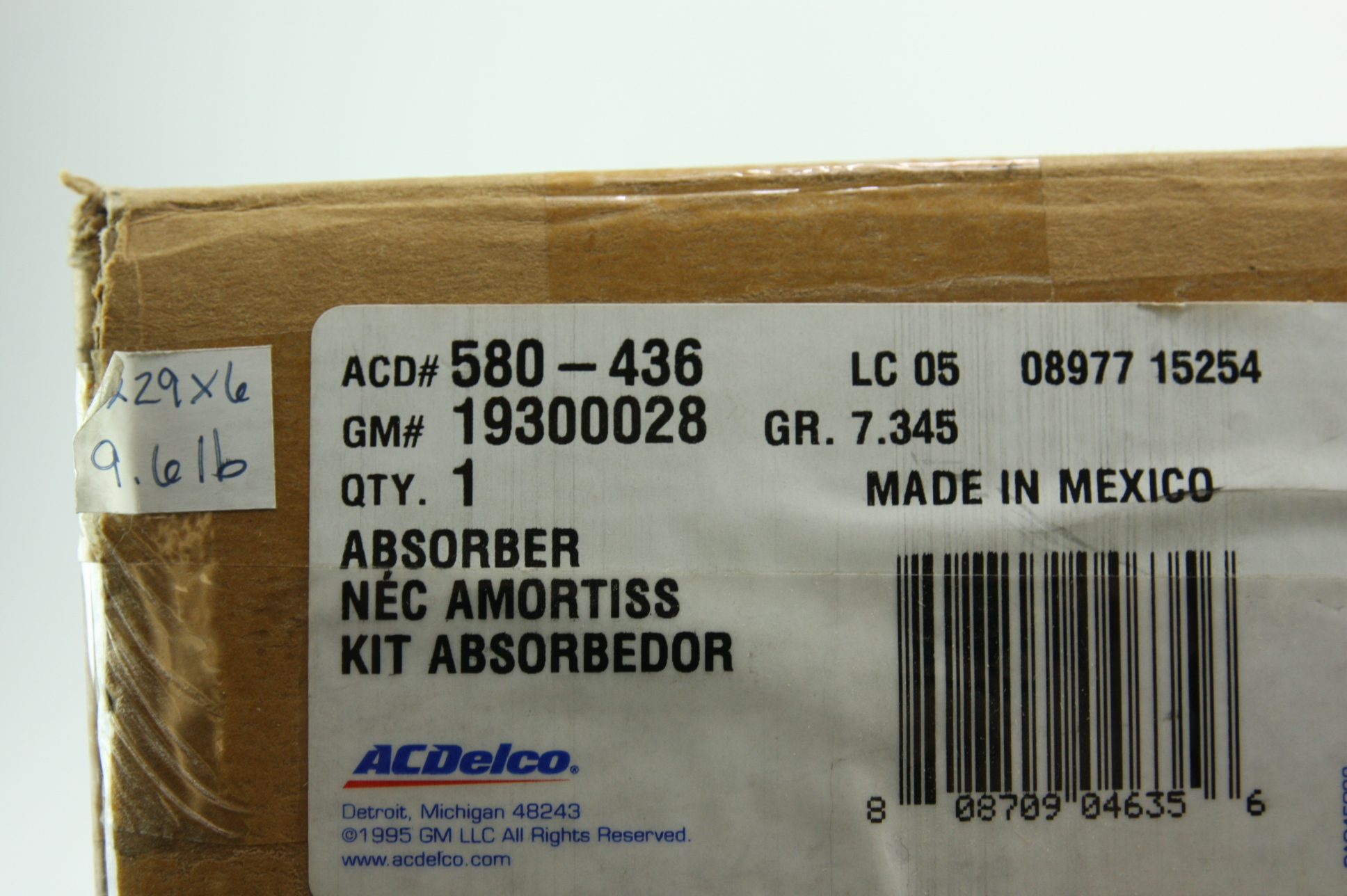 New OEM 580-436 GM 19300028 Shock Absorber Kit Front LH/RH 07-10 Cadillac STS - image 2