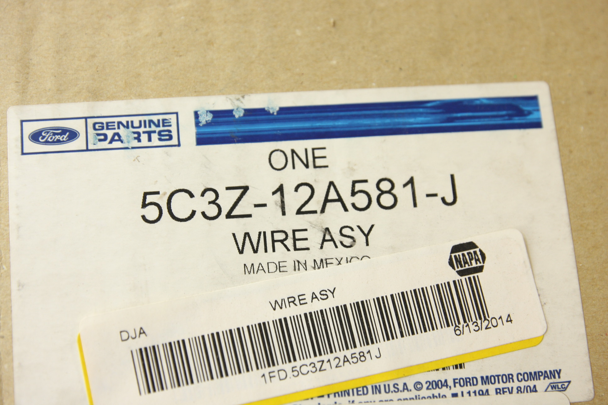 *** New OEM 5C3Z12A581J Ford Wire Assembly Fast Free Shipping - image 2