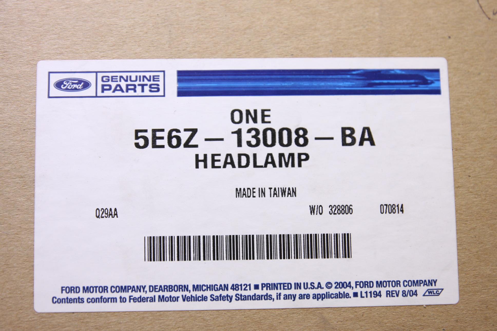 **** New OEM 5E6Z13008BA Mercury Mariner 05-07 LH Driver Side Headlight Headlamp - image 2