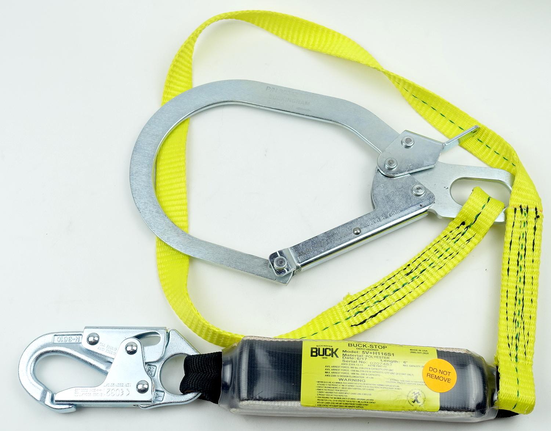 Buckingham 5V+H116S1 Energy Absorber Lanyard Single Leg Buck Stop Free Shipping - image 1