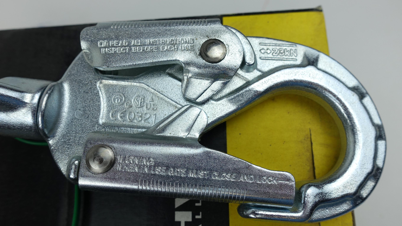 Mansafe SRL 62407-00 Galvanized Steel 23' Cable Lifeline Self-Retracting Lanyard - image 3