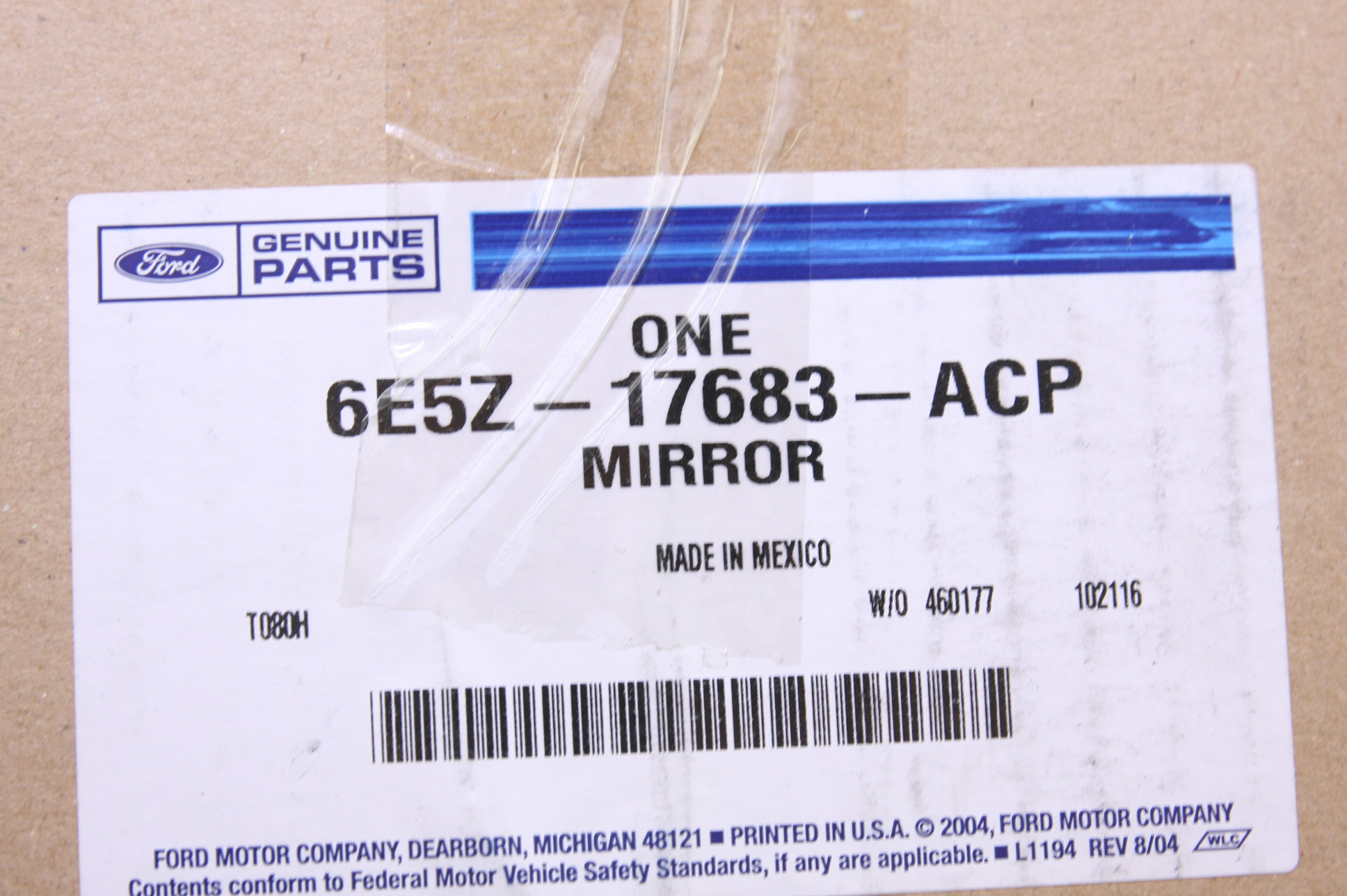 *** New Ford OEM 6E5Z17683ACP 06-10 Ford Fusion LH Side Power Mirror Assembly - image 2