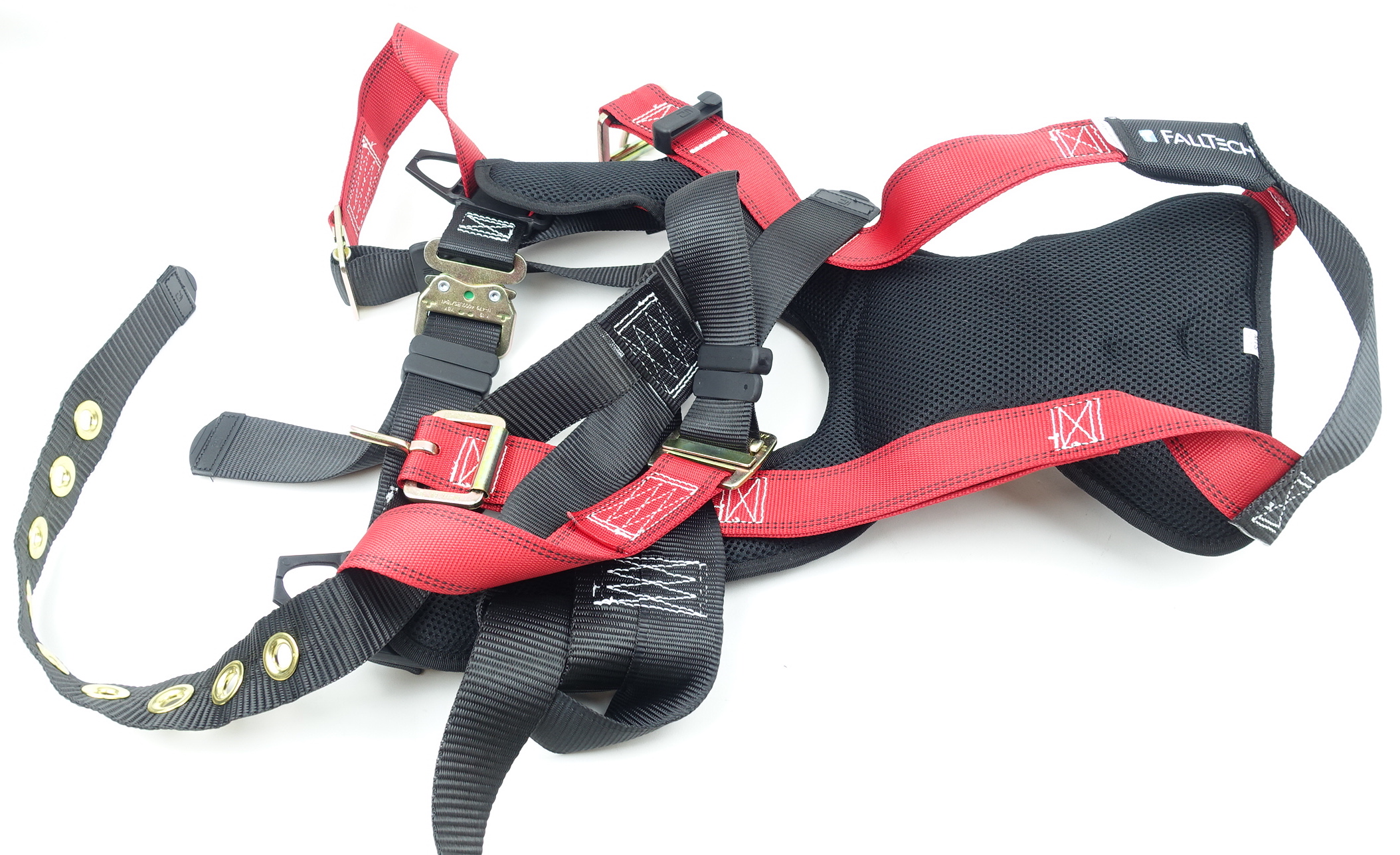 FallTech Fall Safety Harness L/XL Non-Belted Back D-Ring Tongue Buckle Legs - image 2