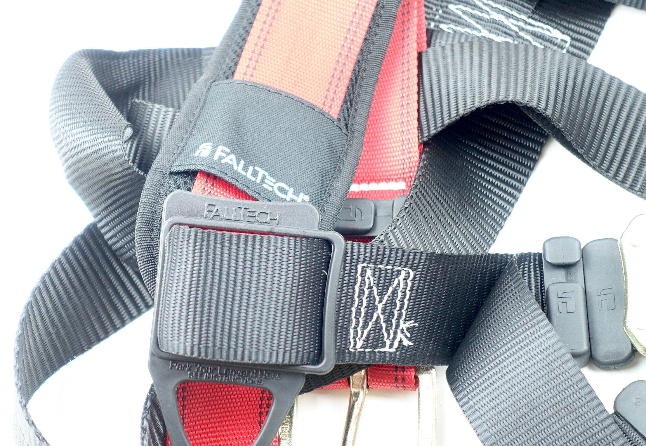 FallTech Fall Safety Harness L/XL Non-Belted Back D-Ring Tongue Buckle Legs - image 7