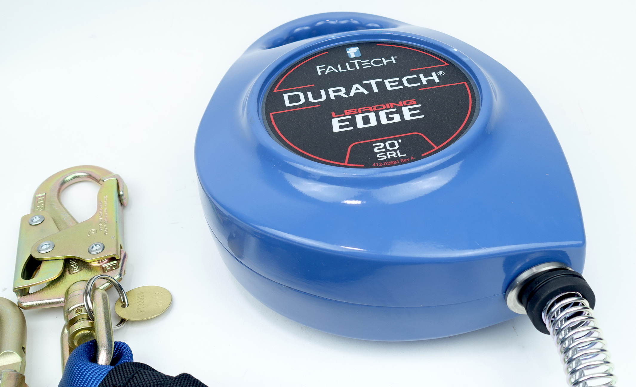 """FallTech 20' Leading Edge 7/32"""" Cable SRD DuraTech Steel Swivel Snaphook 7227CLE - image 9"""