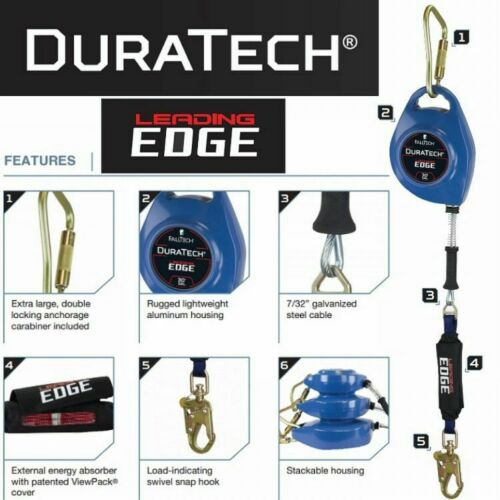 Falltech DuraTech Leading Edge Self-Retracting Lifeline - 50' Galvanized Cable - image 7