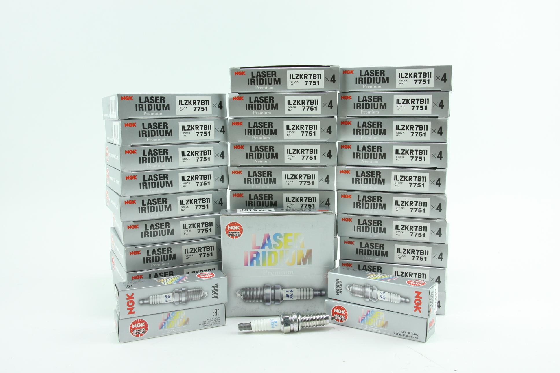 New Set of 120 (Case) NGK 7751 ILZKR7B11 Laser Iridium and Platinum Spark Plugs - image 1