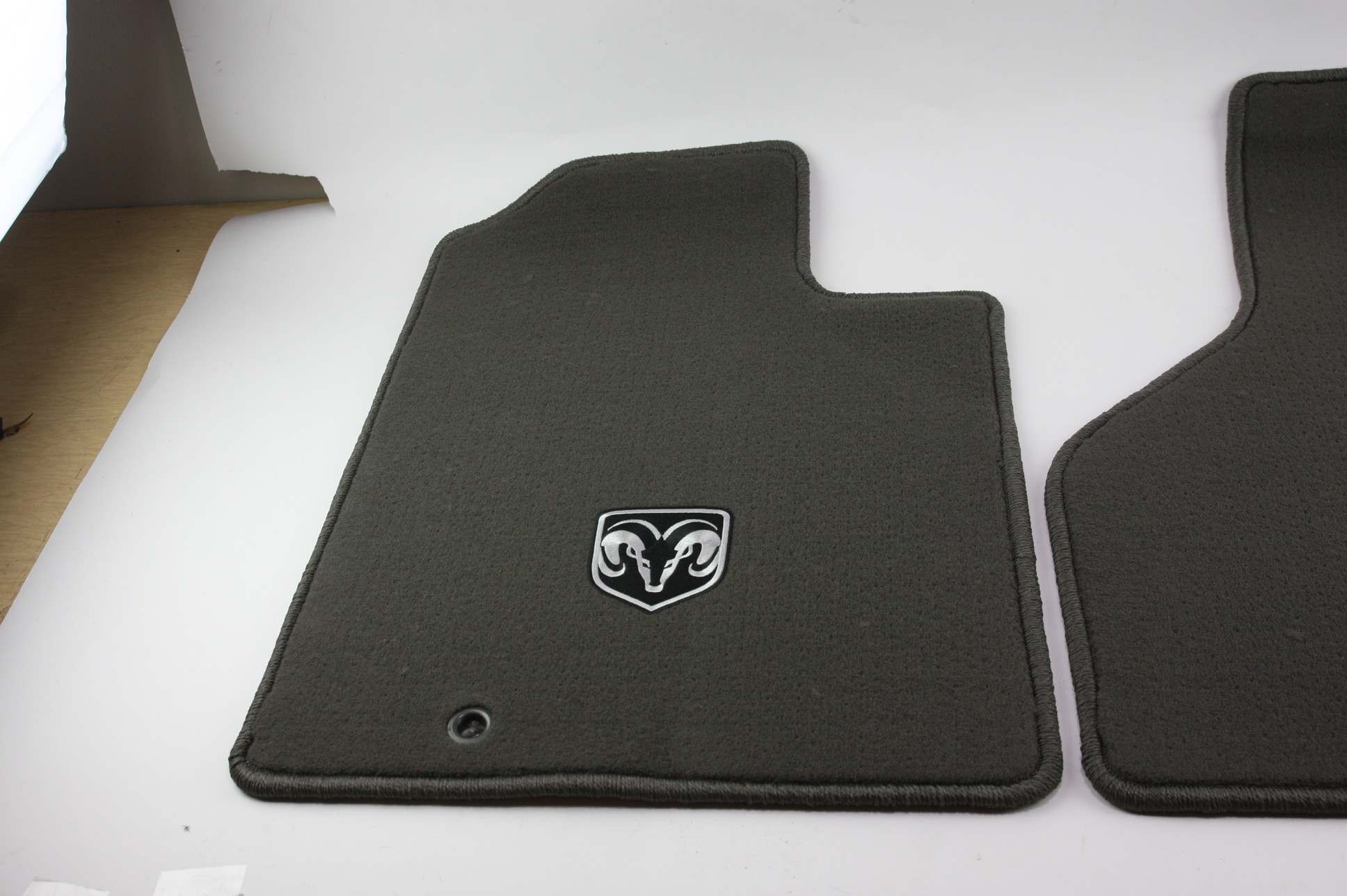 New OEM Mopar 82209560 06-08 Dodge Ram 1500 Front Carpeted Floor Mats Dark Khaki - image 2