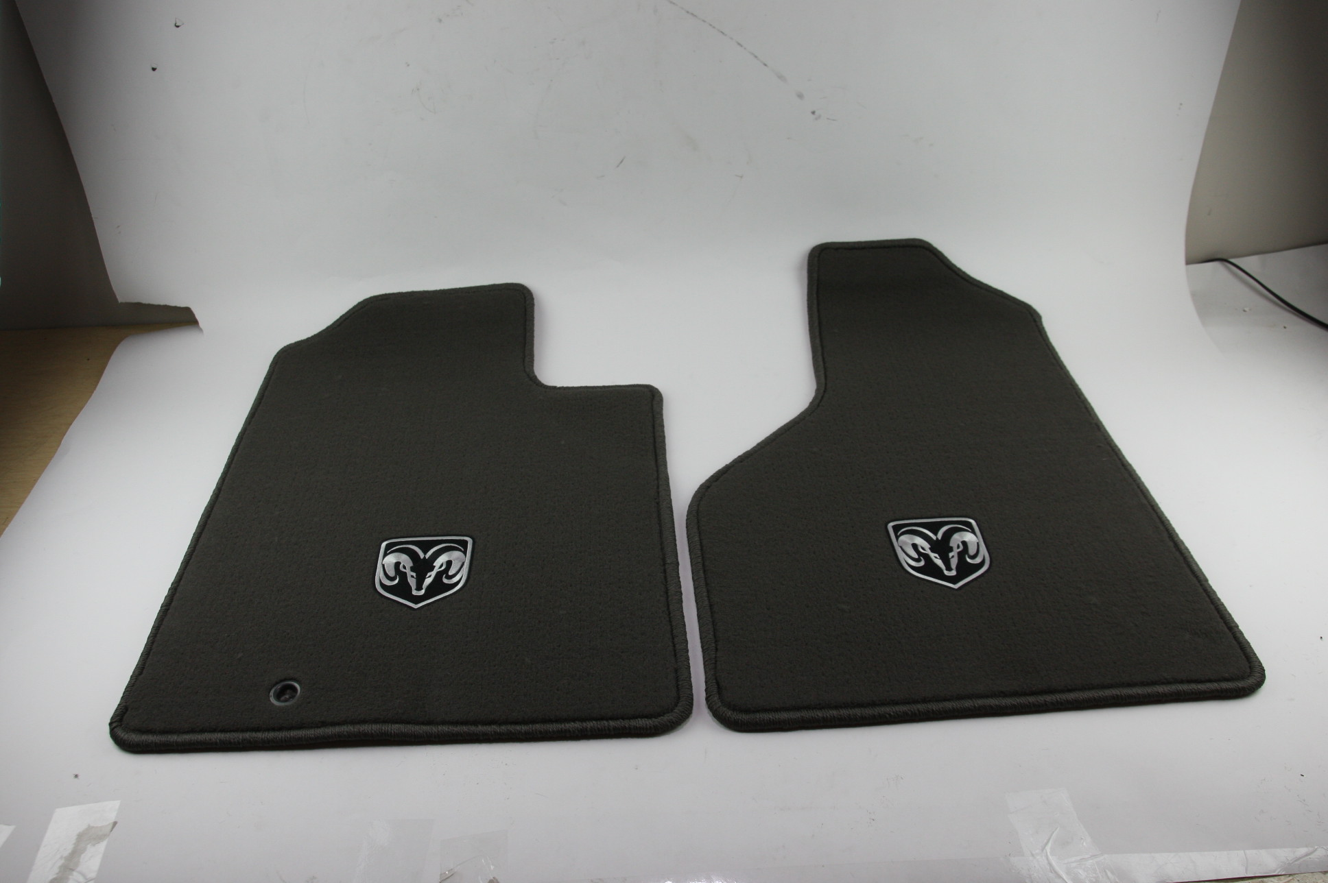 New OEM Mopar 82209560 06-08 Dodge Ram 1500 Front Carpeted Floor Mats Dark Khaki - image 7