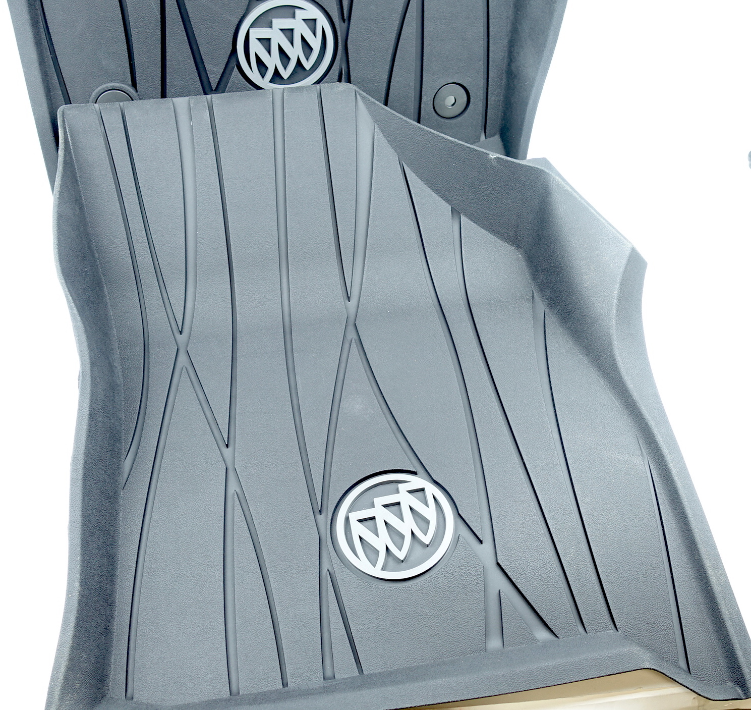 New OEM 84359483 GM 18-21 Buick Enclave Full Coverage Front Black Floor Liners - image 3