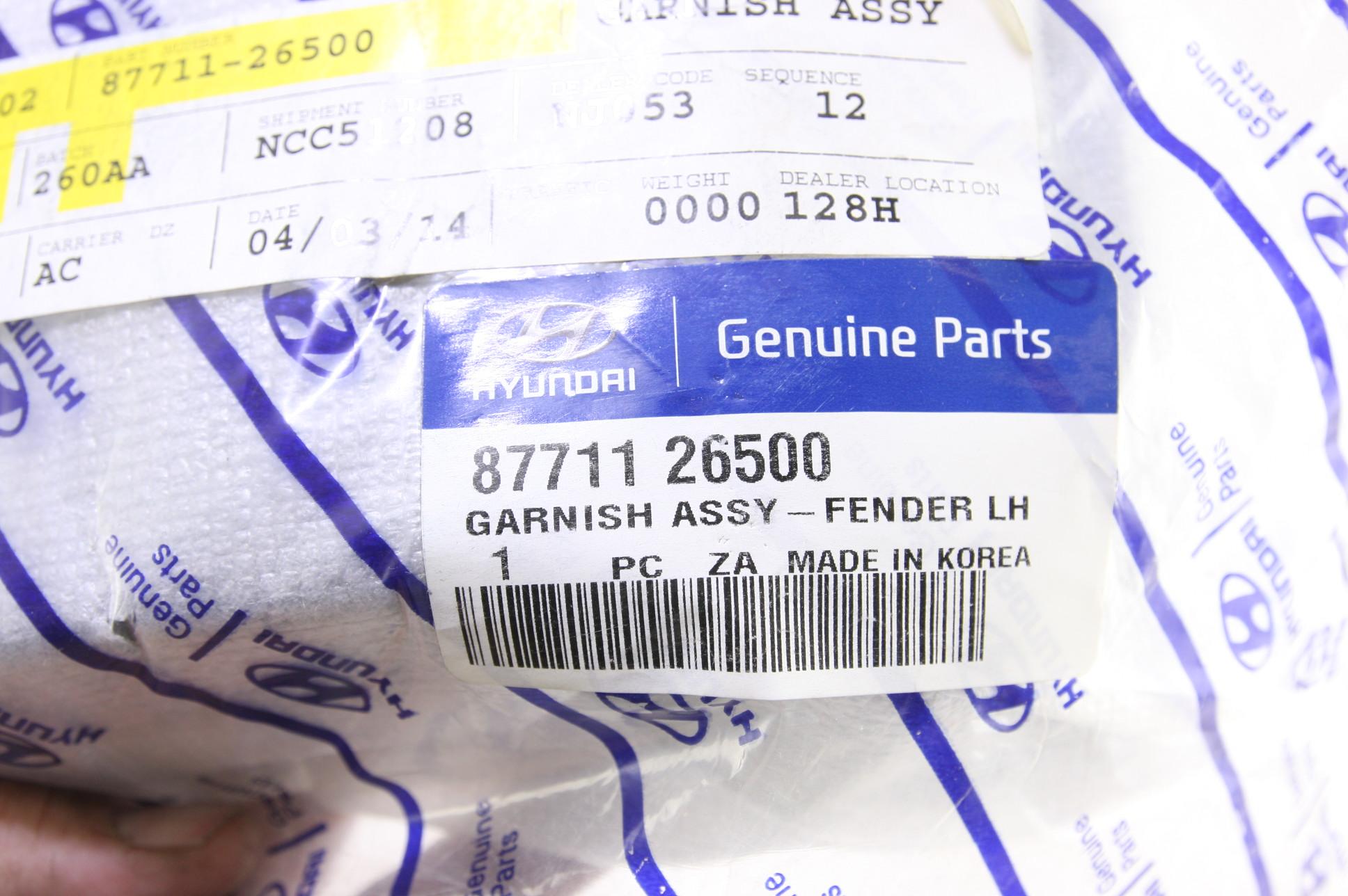 *~ New OEM Hyundai 8771126500 Front LH Exterior Fender Moulding 05-06 Santa Fe - image 2