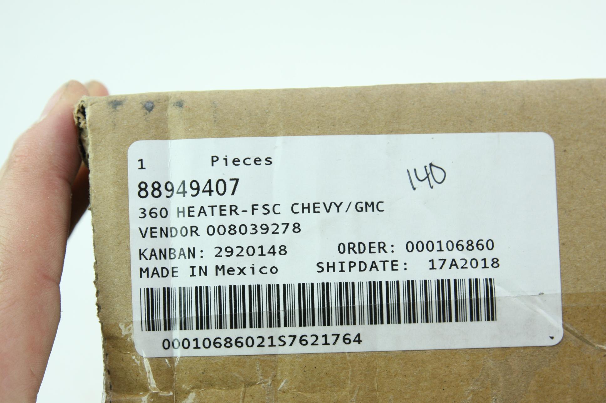 New Genuine OEM 88949407 GM Seat Heater Element Fast Free Shipping NIP - image 2