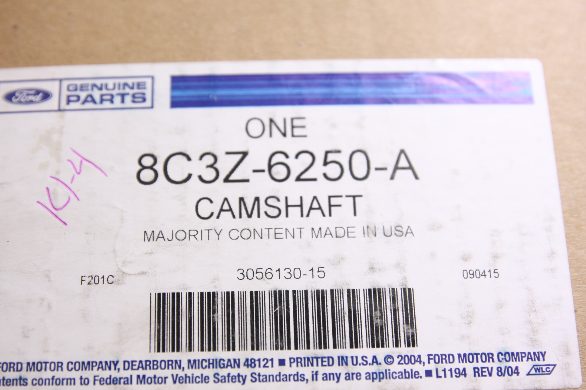 *New OEM 8C3Z6250A Ford 08-10 F-Series Super Duty Camshaft Cam Free Shipping NIP - image 2