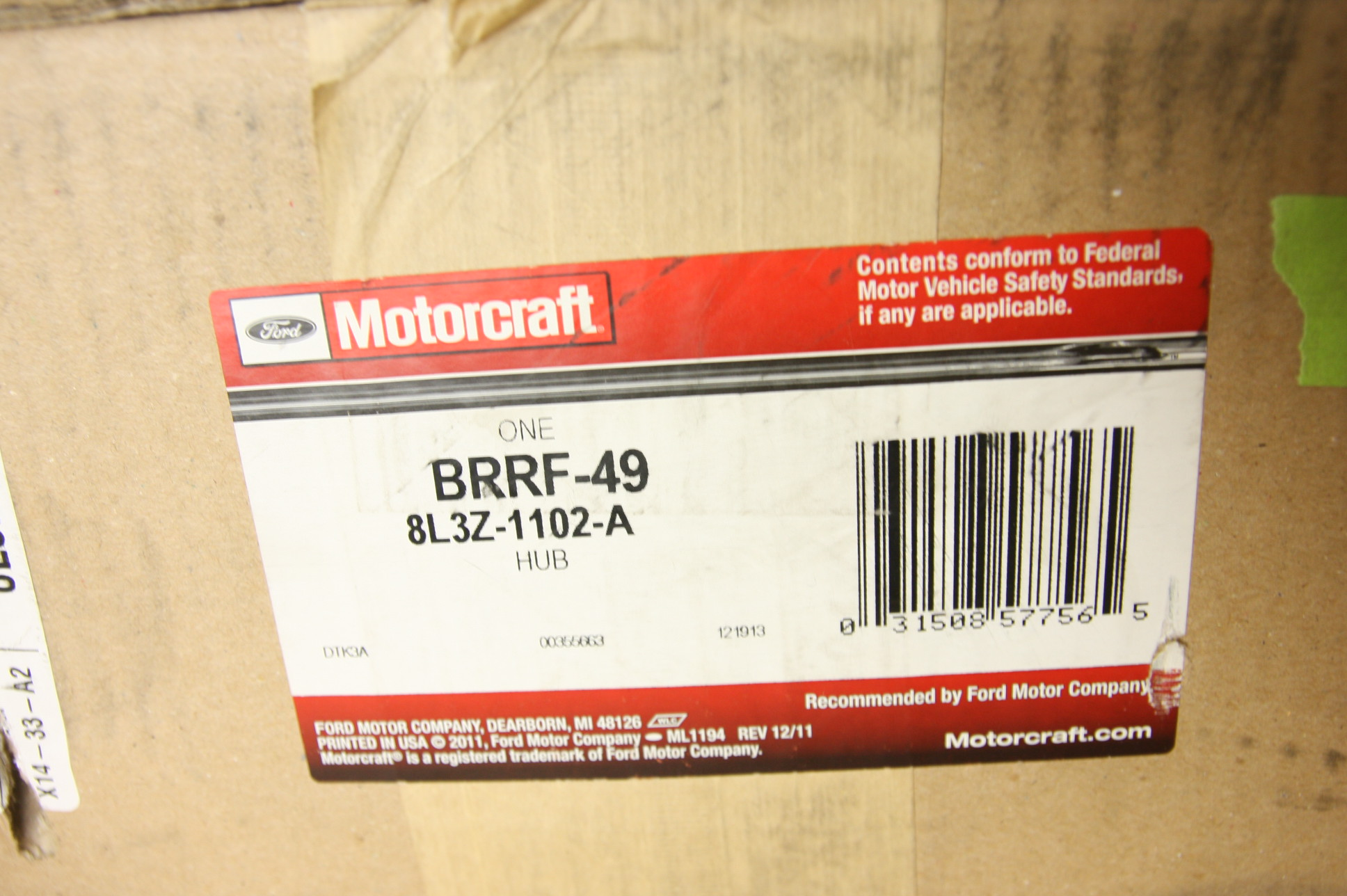 **~ New OEM Ford 8L3Z1102A Disc Brake Rotor Front F150 Fast Free Shipping - image 3