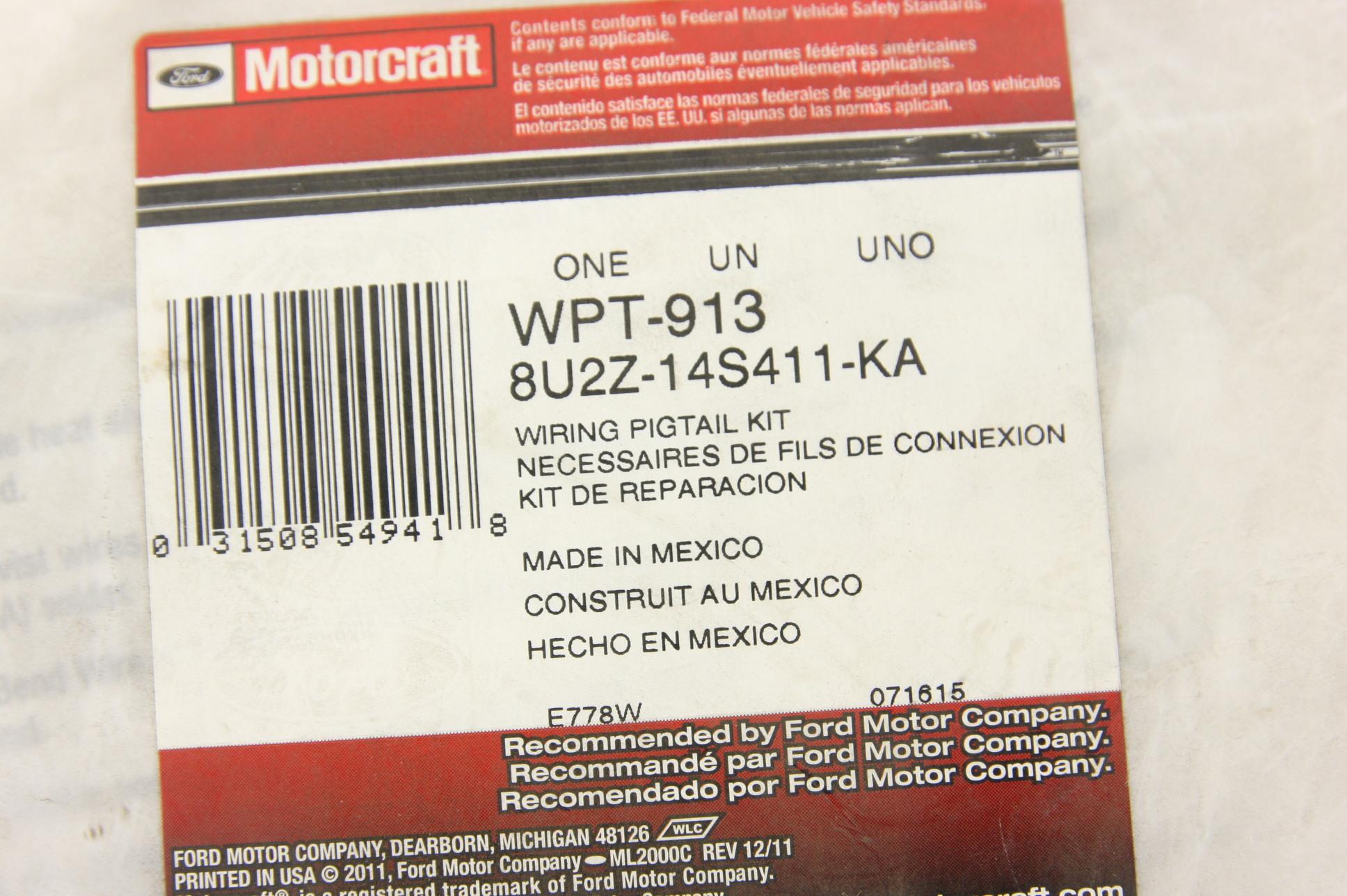 New Ford Oem 8u2z14s411ka Pigtail Wiring Kit Milan Zephyr Free Motor Shipping Nip
