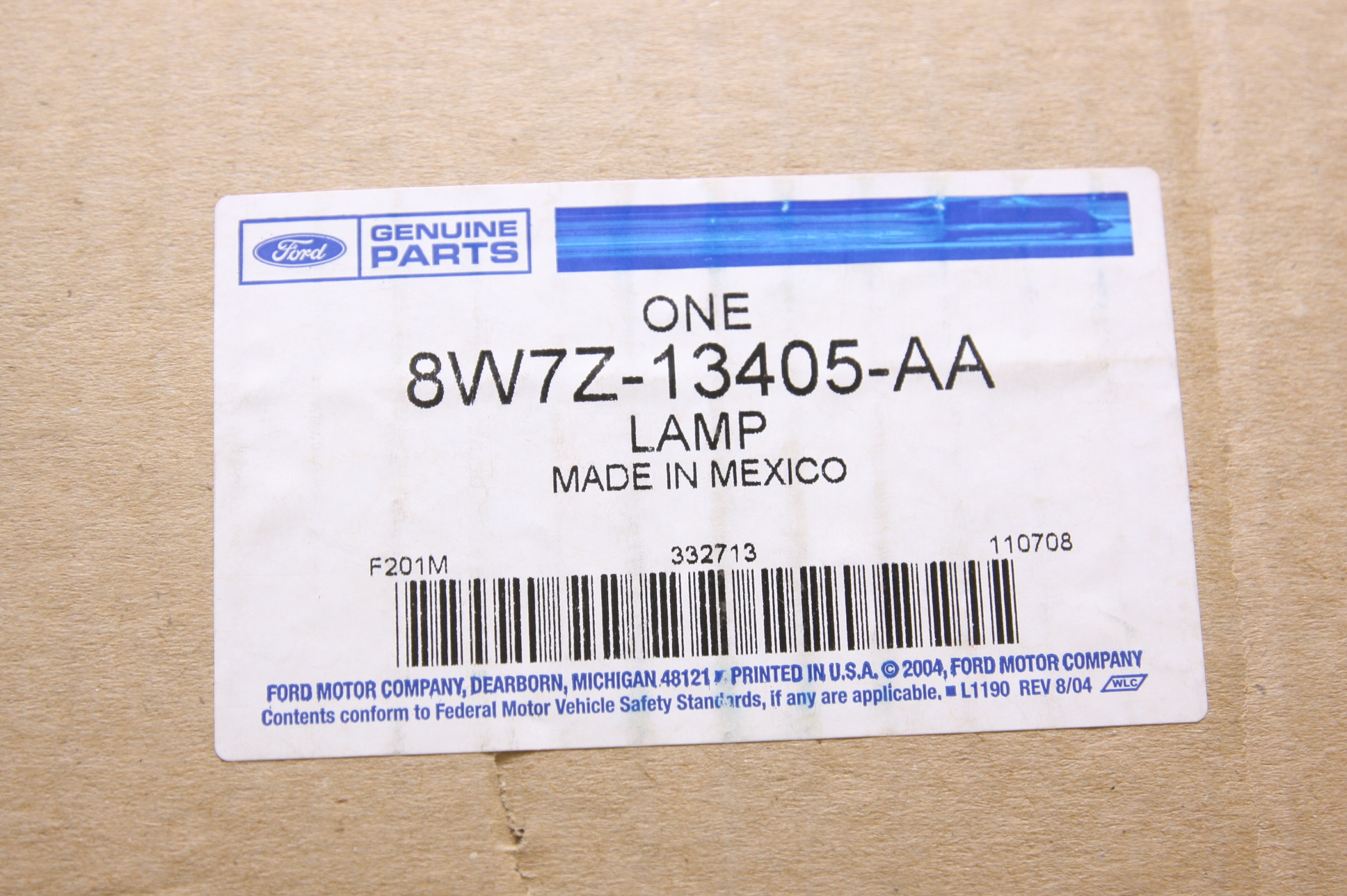 ~ New Ford OEM 8W7Z13405AA Tail Lamp Light Left Driver Free Shipping - image 2