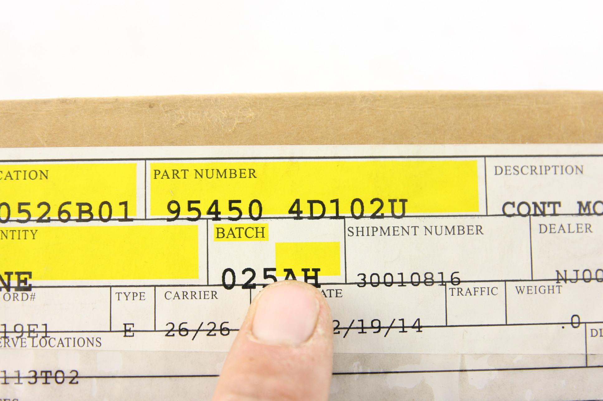 New Oem 954504d102 Kia Sedona Sliding Door Control Module Sealed Box