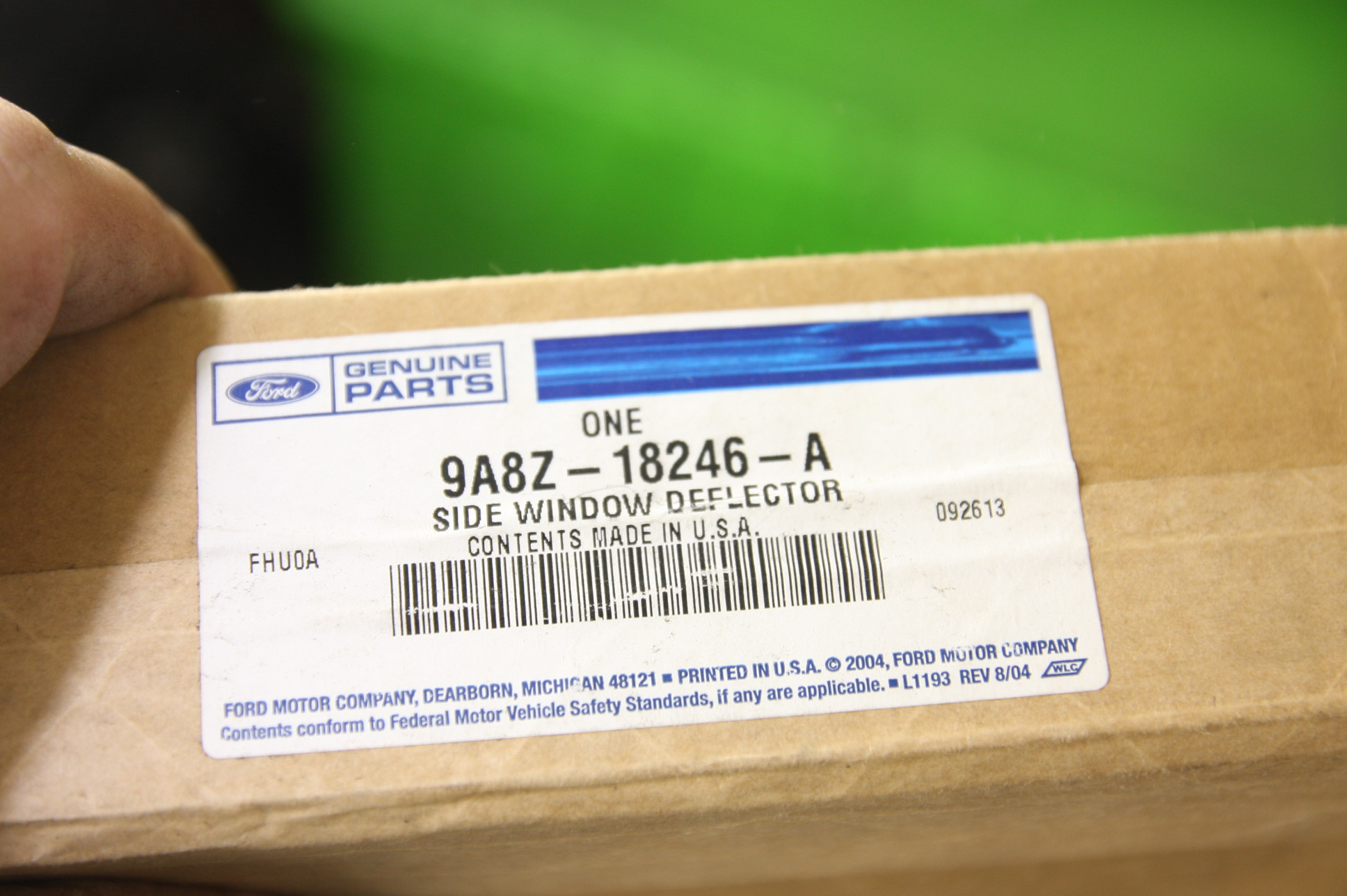 ** New OEM Ford 9A8Z18246A 09-17 Flex Smoke Side Window Deflector 4-pc Kit NIP - image 2