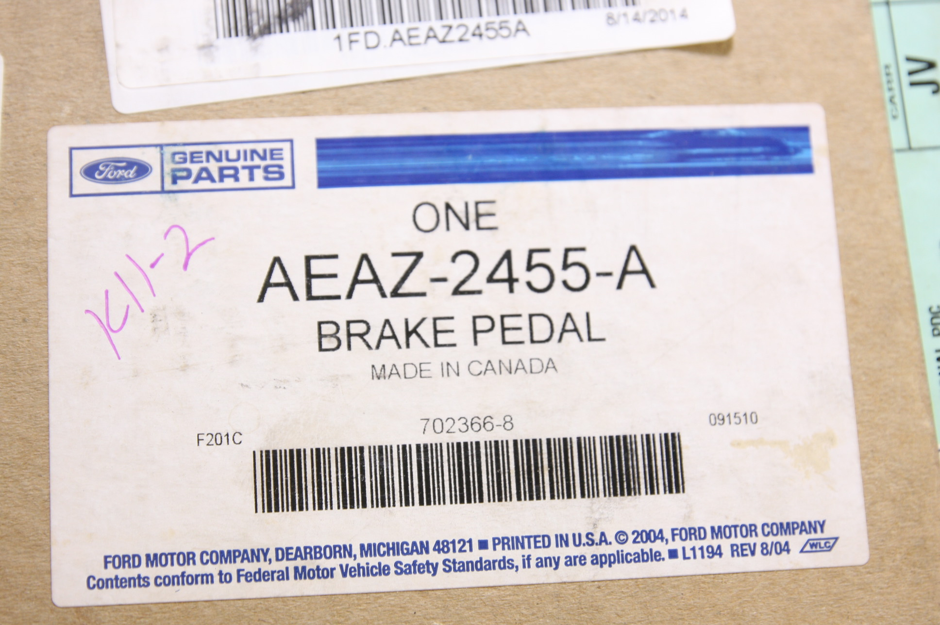 ** New OEM AEAZ2455A Ford Lincoln Mercury 2011 Pedal Assembly Brake - image 5