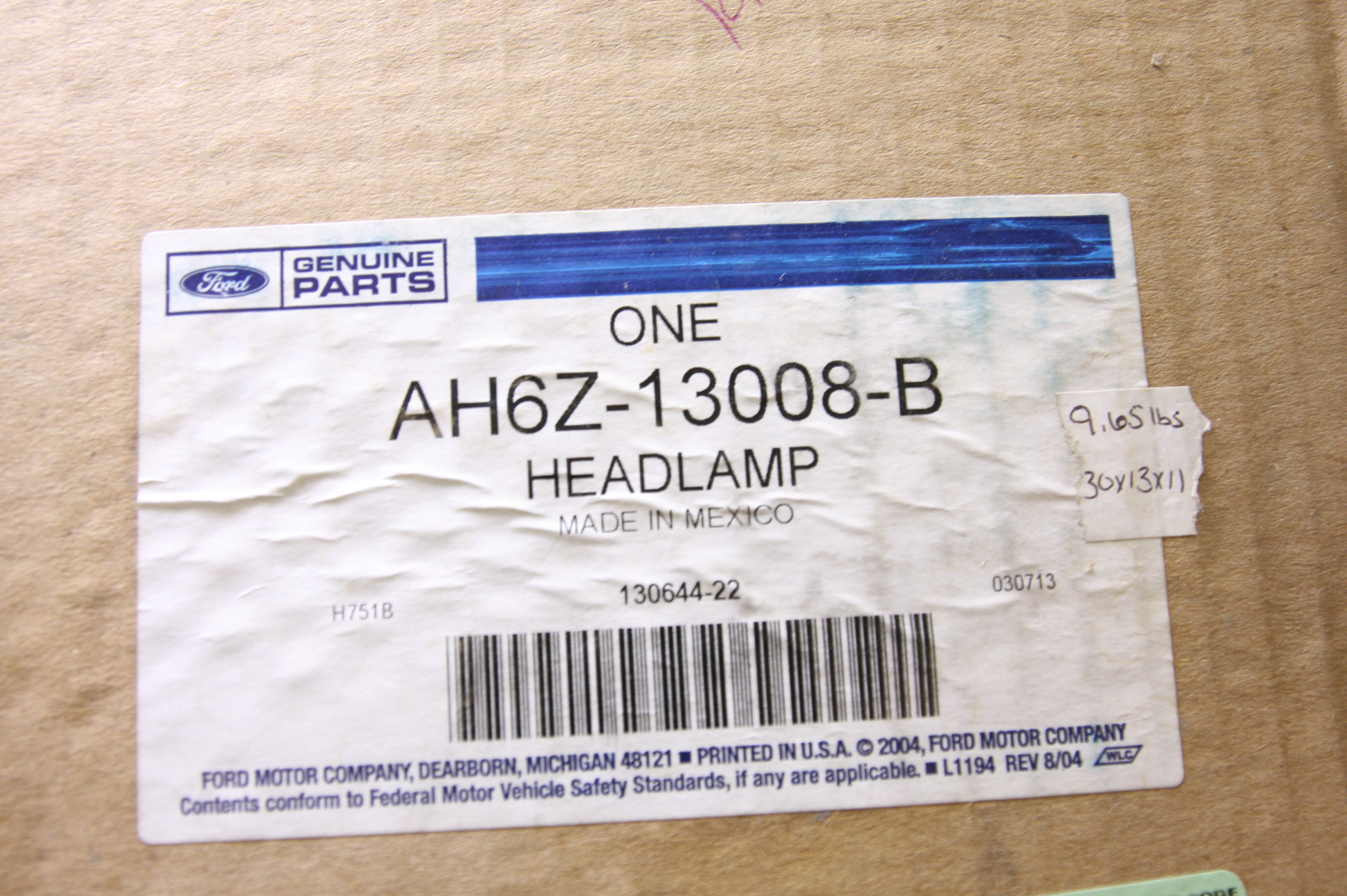 ** New OEM AH6Z13008B Ford Lincoln 10-12 MKZ Headlight Head Light Headlamp NIP - image 2