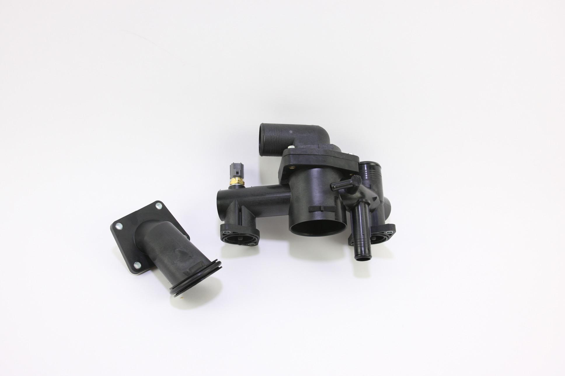 ** New OEM AJ89486 Jaguar 03-06 XK8 4.2L V8 Engine Coolant Thermostat Housing - image 1