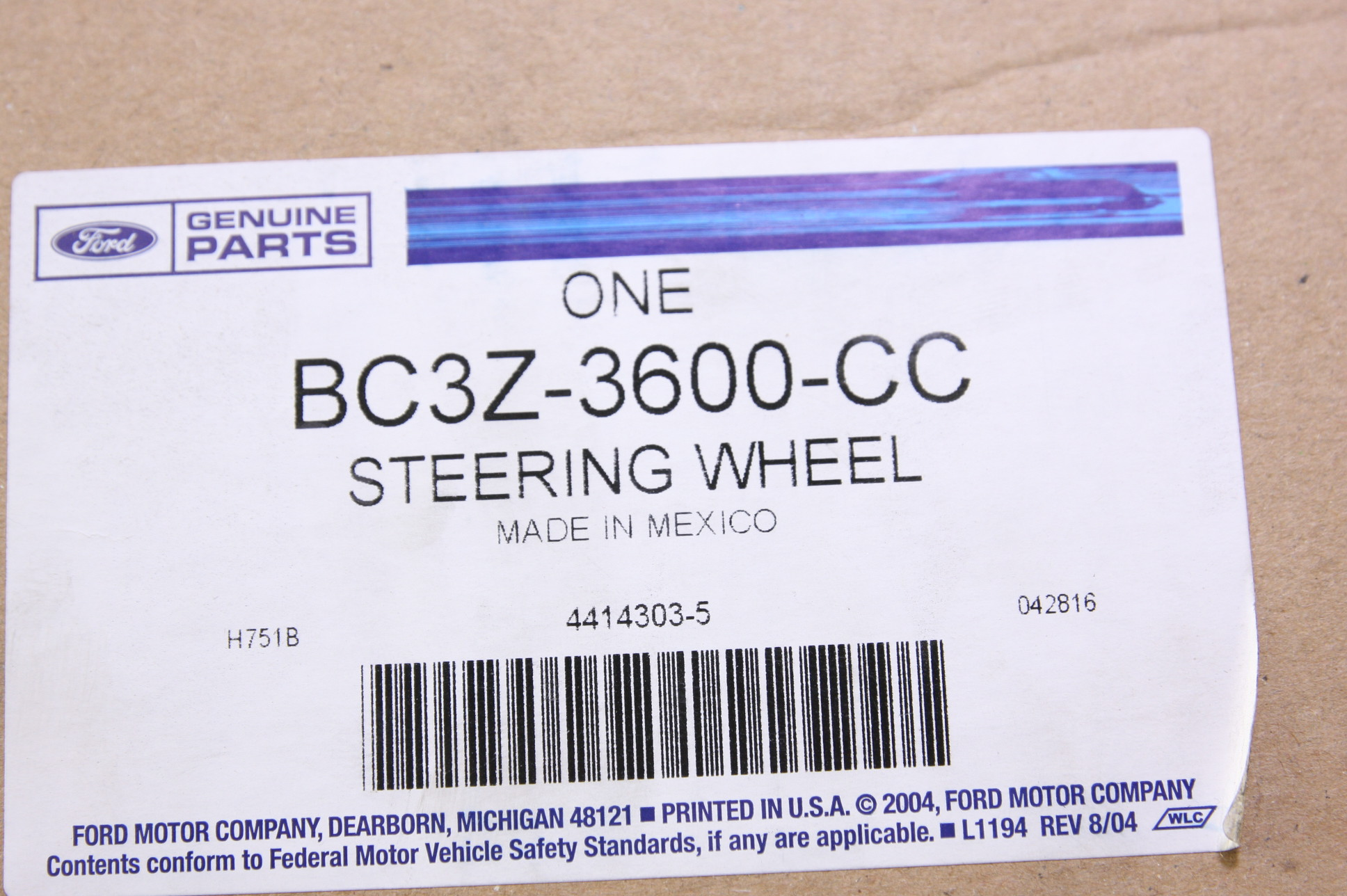 *** New OEM BC3Z3600CC Ford 11-12 F-250 Super Duty Steering Wheel Free Shipping - image 9