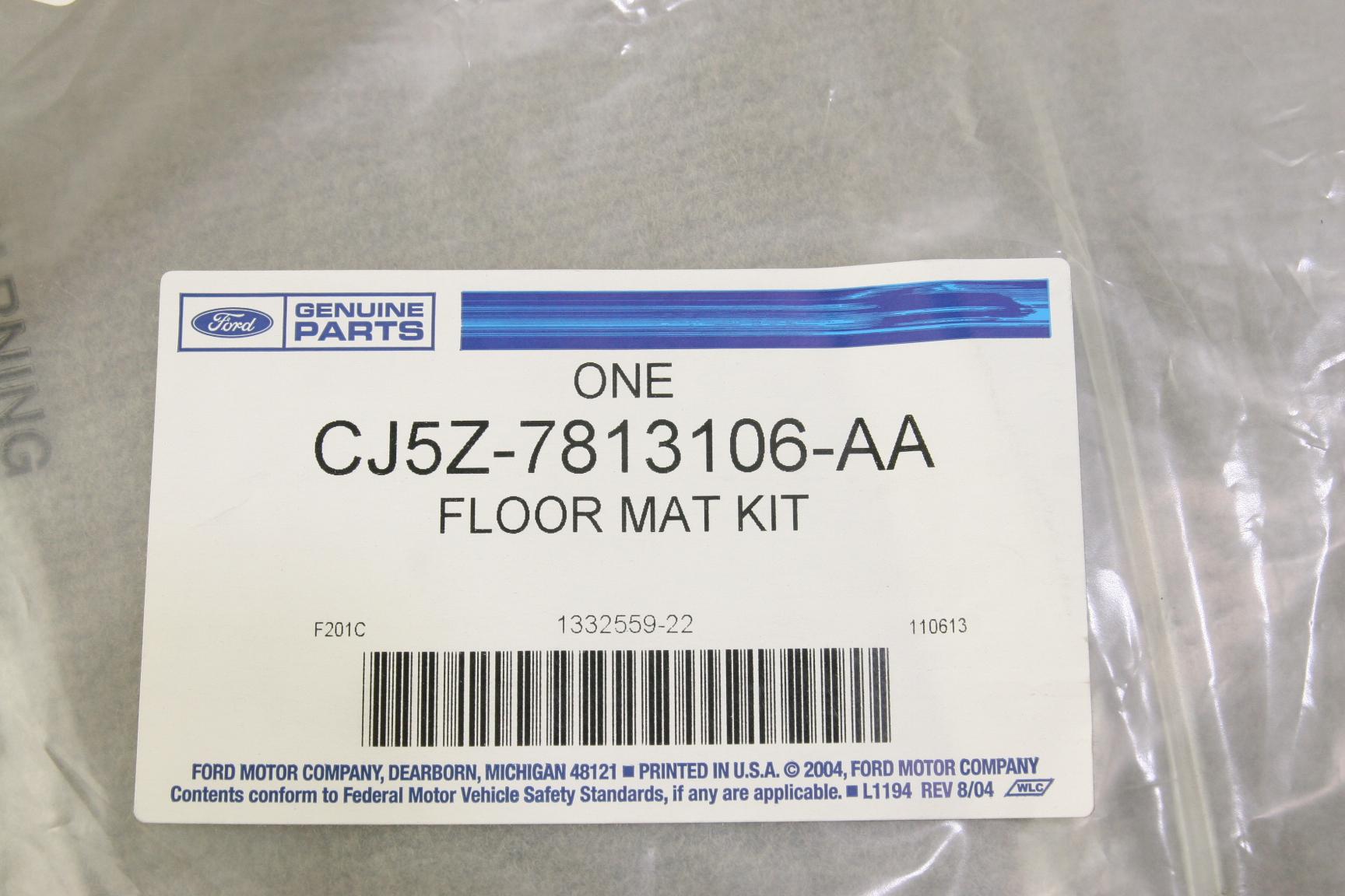 ***~ New OEM Ford CJ5Z7813106AA 13-16 Escape Carpet Rear Mats Medium Light Stone - image 7