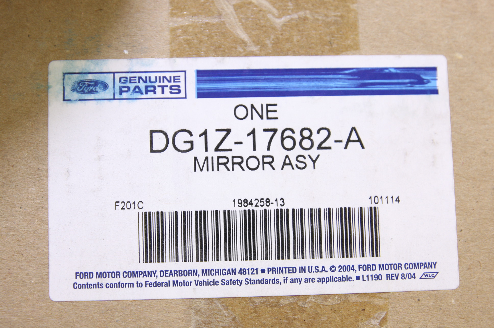 **~ New OEM DG1Z17682A Ford 13-18 Taurus Front Door Mirror Assembly Right - image 5