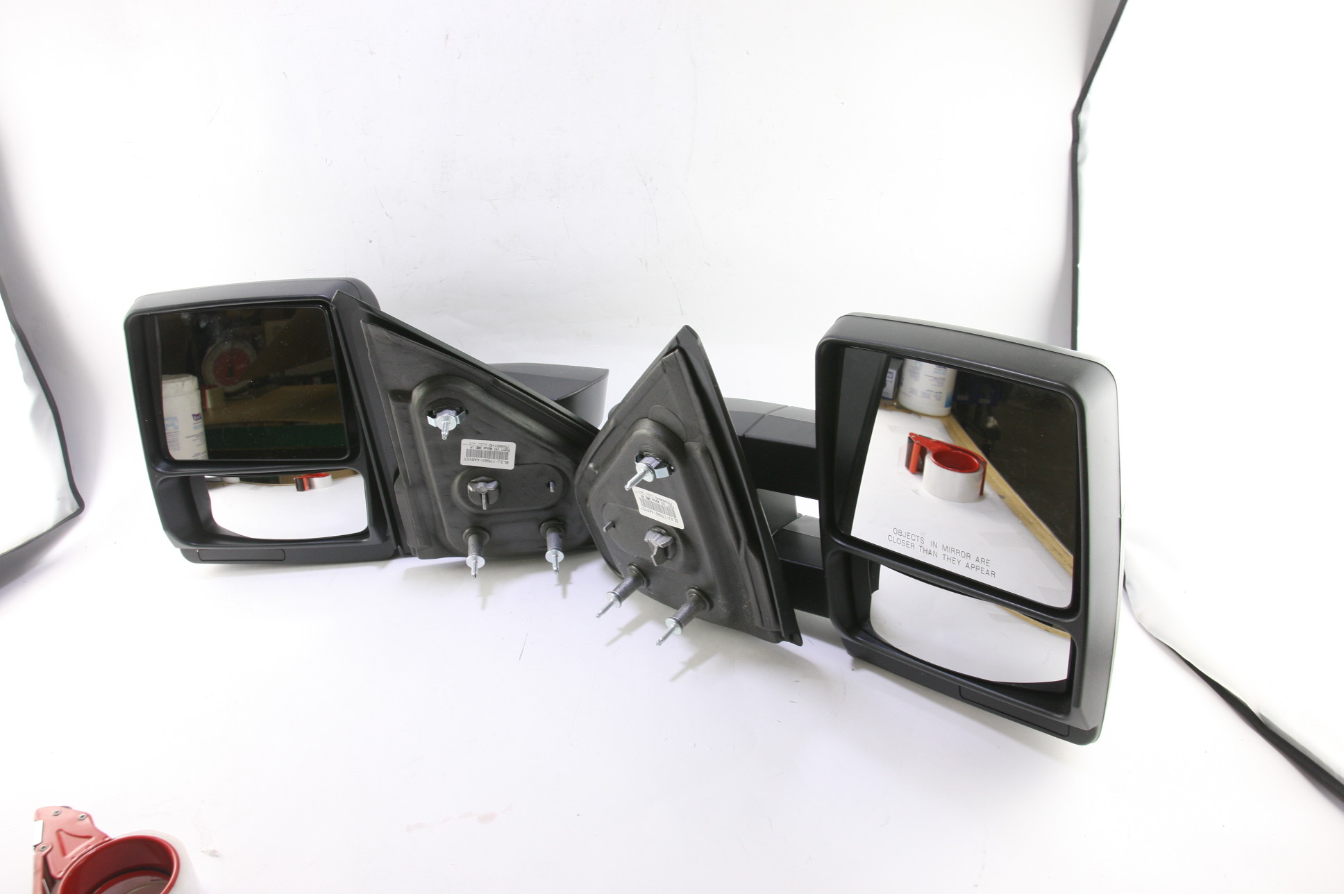 ***New OEM DL3Z17696AA Ford 05-14 F150 Manual Telescopic Trailer Tow Mirrors Set - image 1