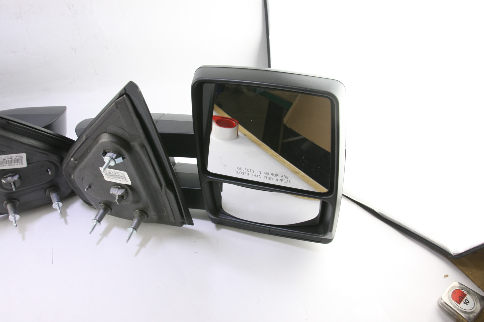 ***New OEM DL3Z17696AA Ford 05-14 F150 Manual Telescopic Trailer Tow Mirrors Set - image 8