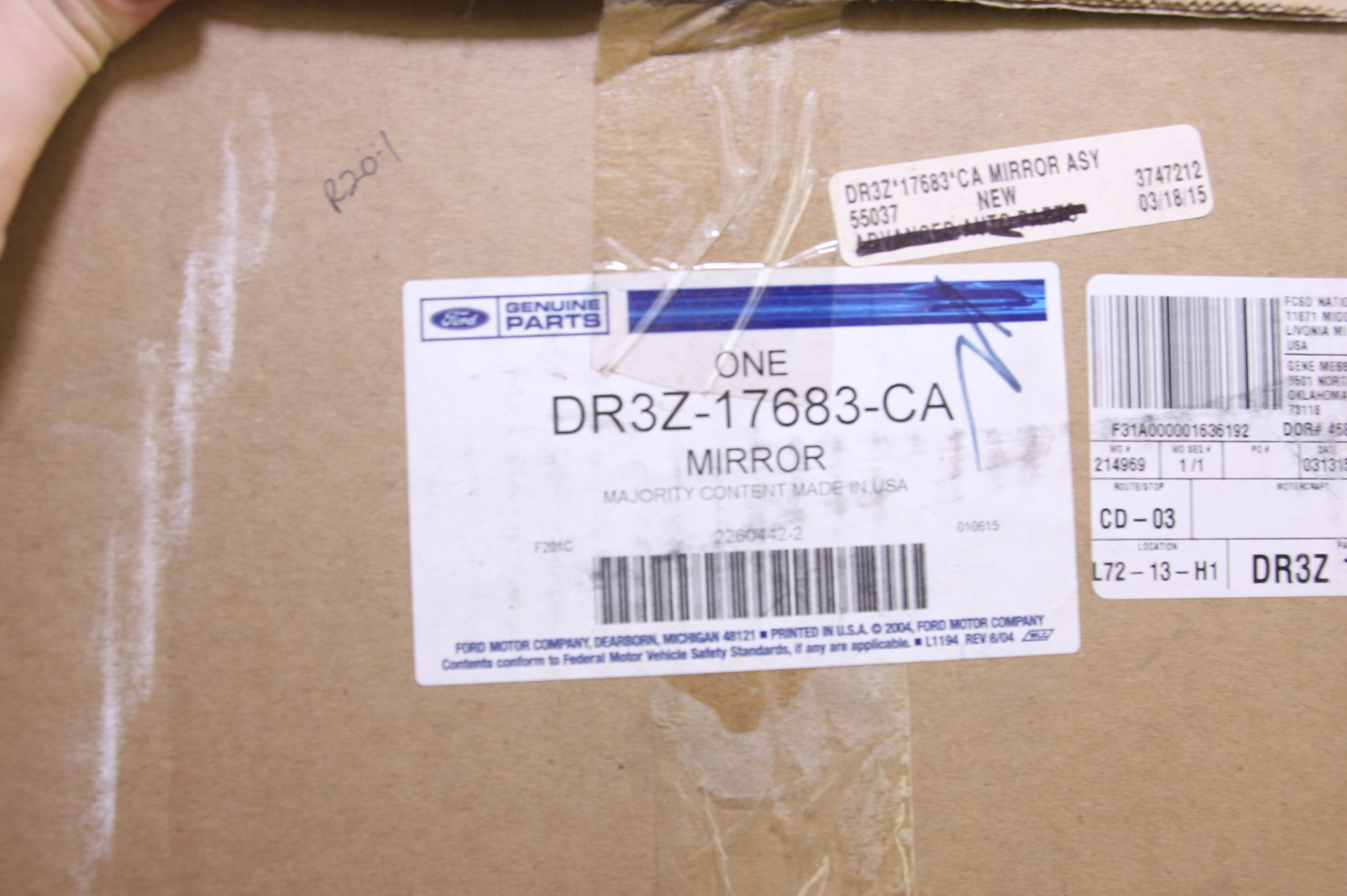 *~ New OEM Ford DR3Z17683CA 13-14 Mustang Door Side Rear View Mirror Assy Left - image 2