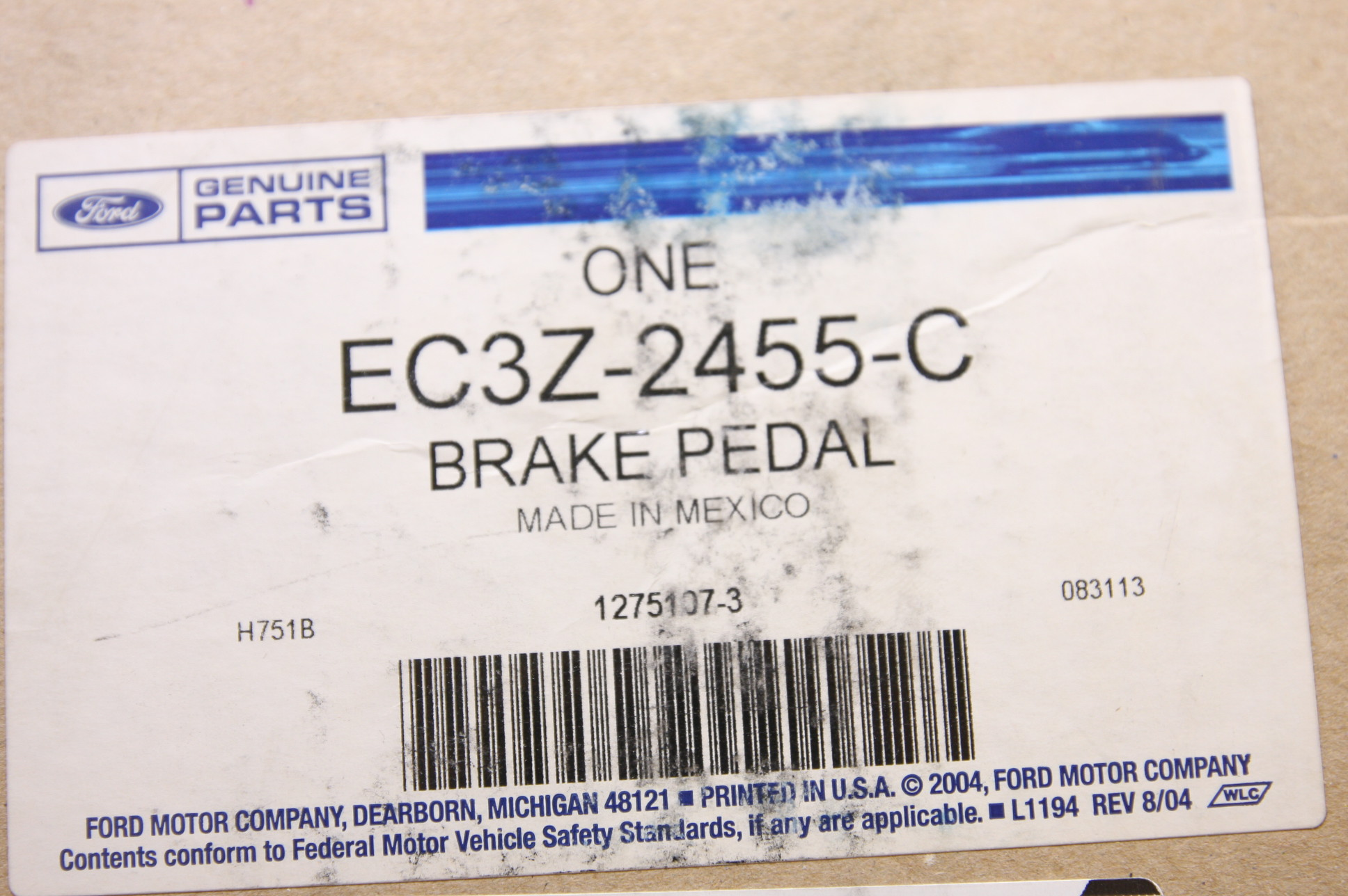 **~ New OEM EC3Z2455C Ford Brake Pedal Assembly Fast Free Shipping - image 4