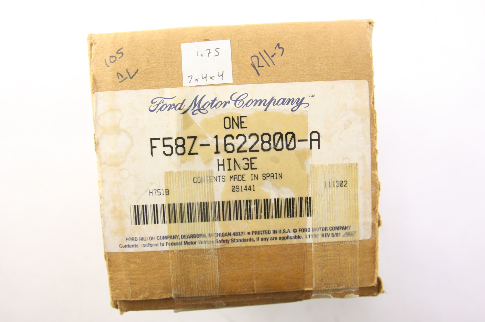 ***~ New Genuine OEM F58Z1622800A Ford Door Hinge Upper Fast Free Shipping - image 2