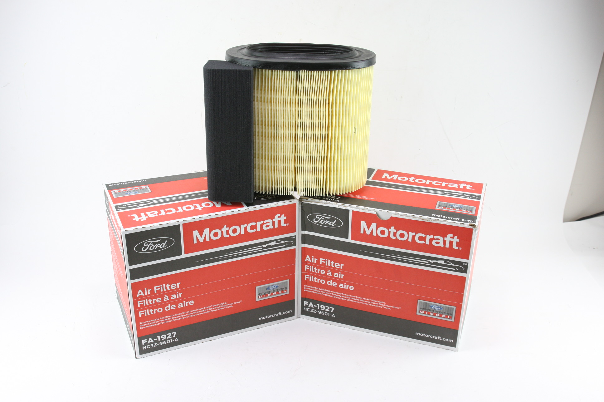* New OEM 2 Pack Motorcraft FA1927 Ford HC3Z9601A Powerstroke Diesel Air Filter - image 1