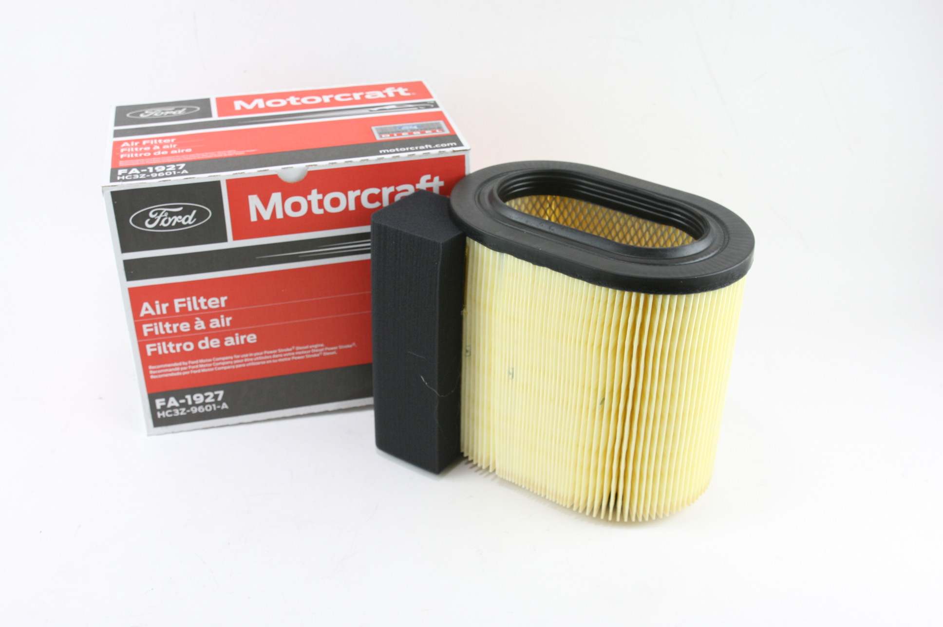 * New OEM 2 Pack Motorcraft FA1927 Ford HC3Z9601A Powerstroke Diesel Air Filter - image 10