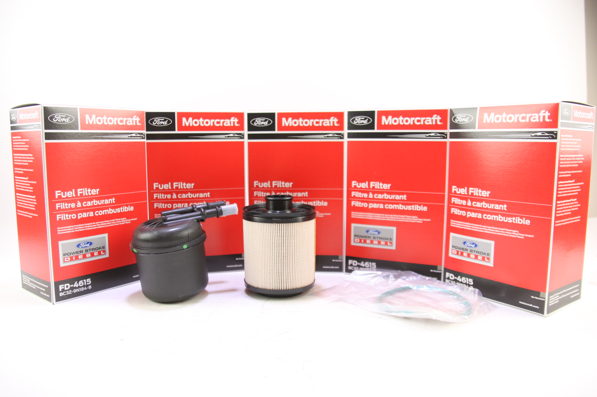 Set of 5 Ford Motorcraft FD4615 Fuel Filter 11-13 6.7L DIESEL BC3Z9N184B NIP - image 1