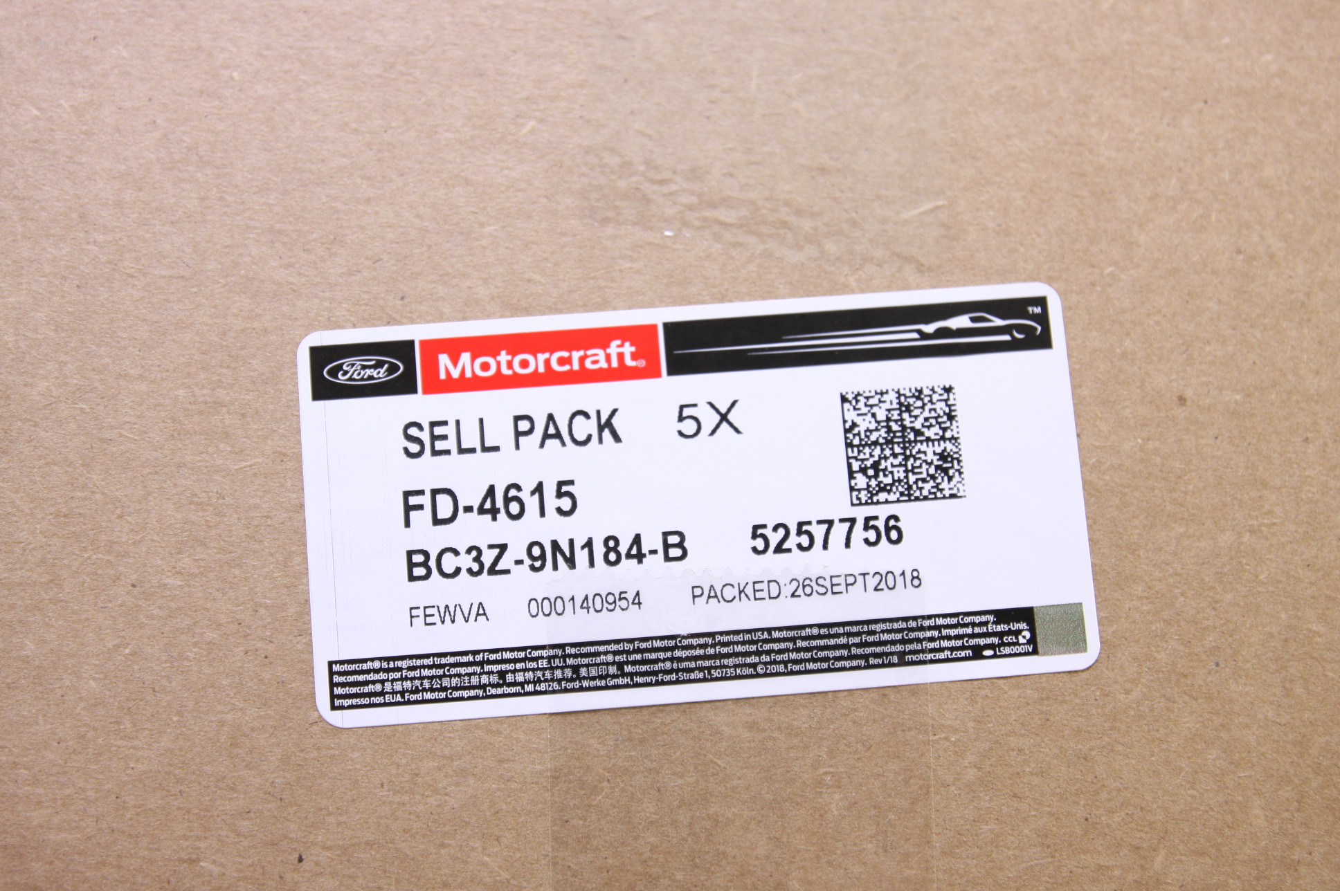 Set of 5 Ford Motorcraft FD4615 Fuel Filter 11-13 6.7L DIESEL BC3Z9N184B NIP - image 2